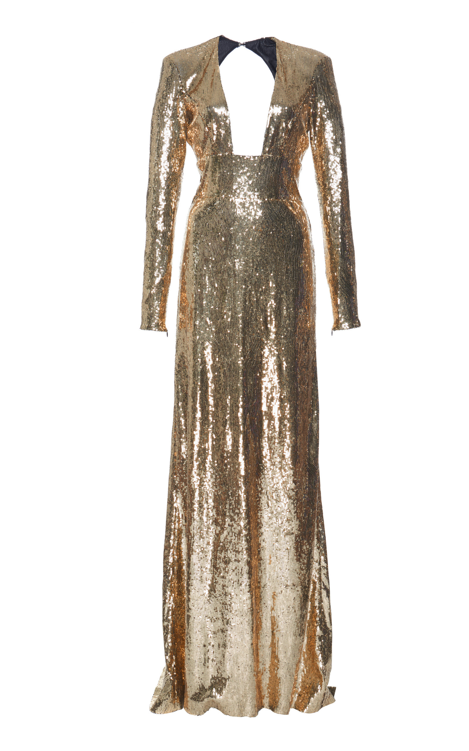 Long Sleeve Sequin Gown Dundas 43hIc