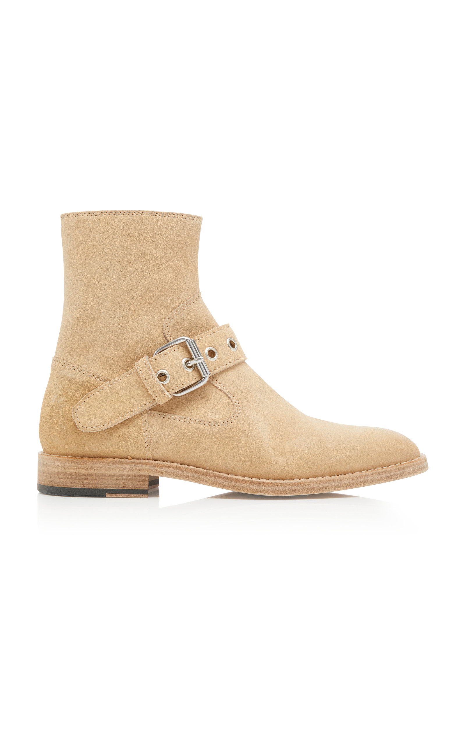 Tall Buckled Ankle Boots by Maison Margiela