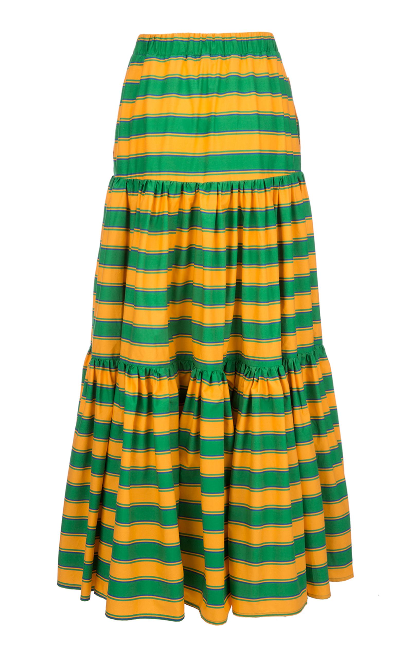 LA DOUBLEJ Ombrellone Big Skirt In Green