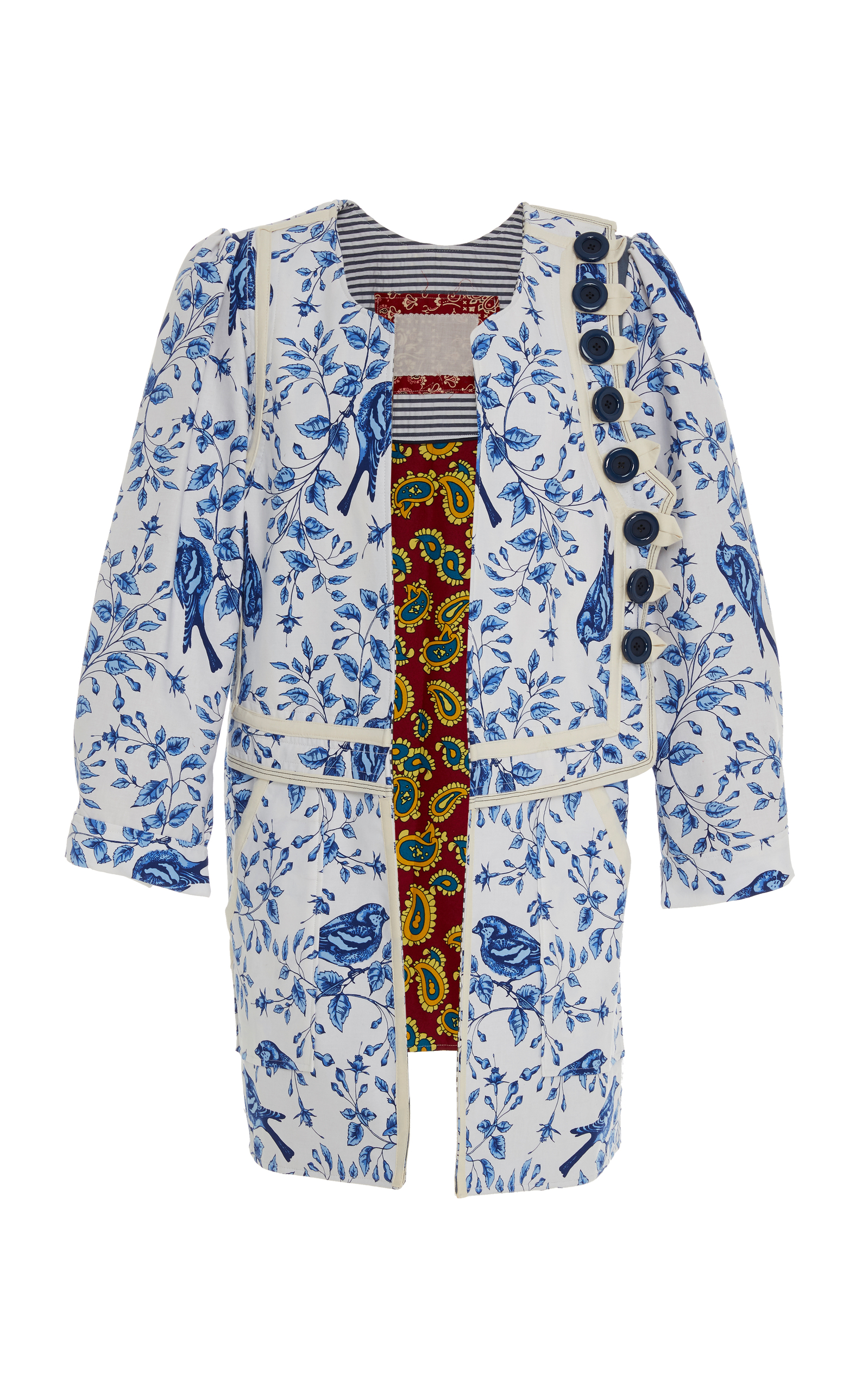 ALIX OF BOHEMIA Limited Edition Birdsong Floral Coat in Print