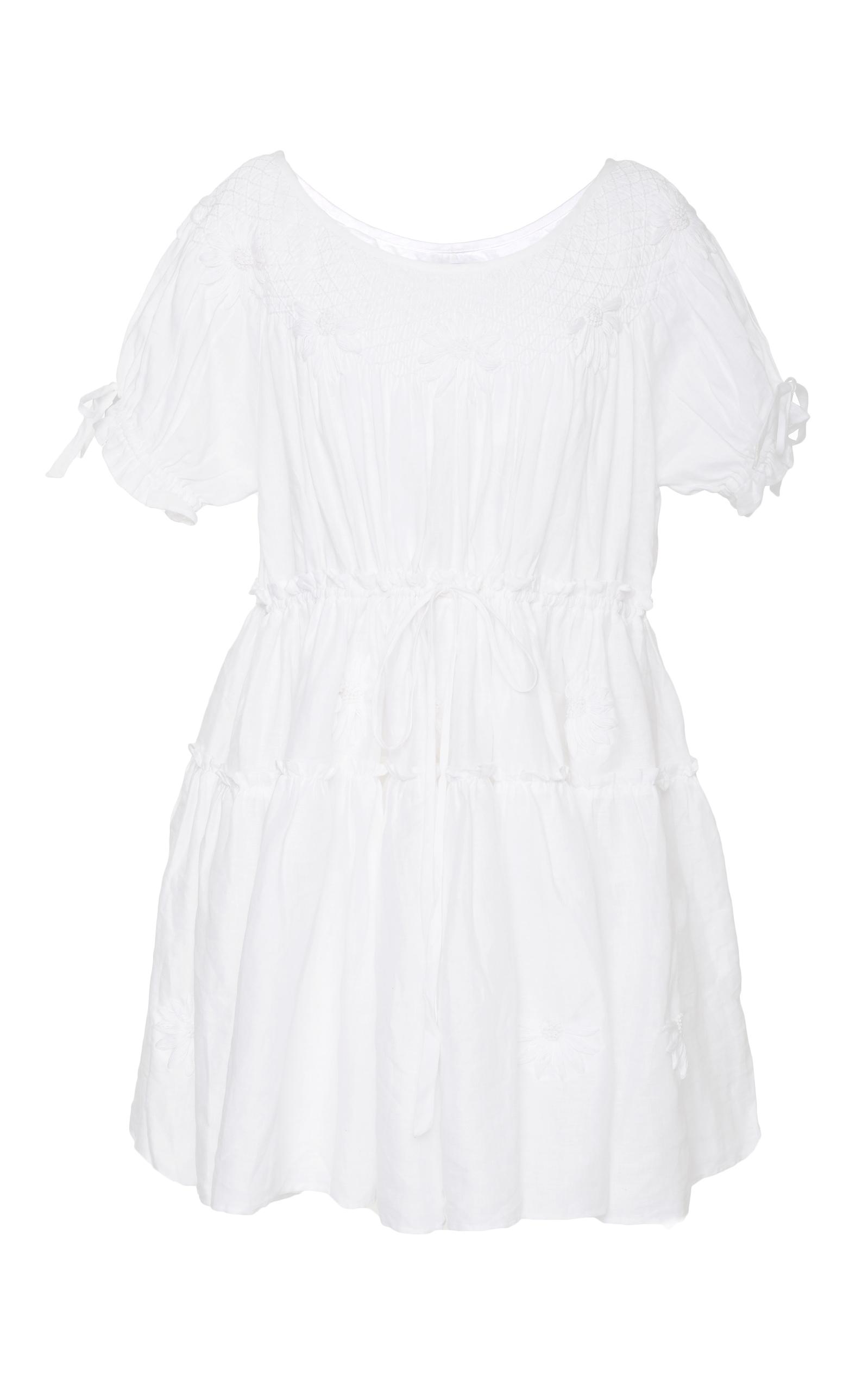 Innika Choo  MINI SMOCK COLLAR DRESS