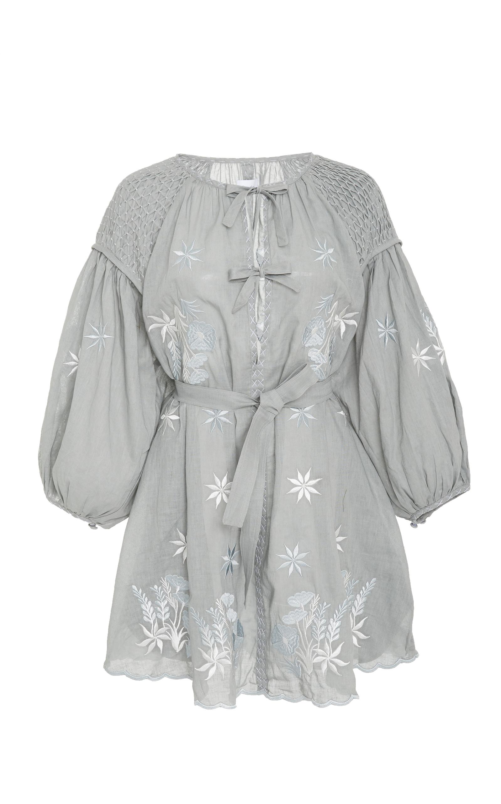 INNIKA CHOO FLARED SMOCK MINI DRESS