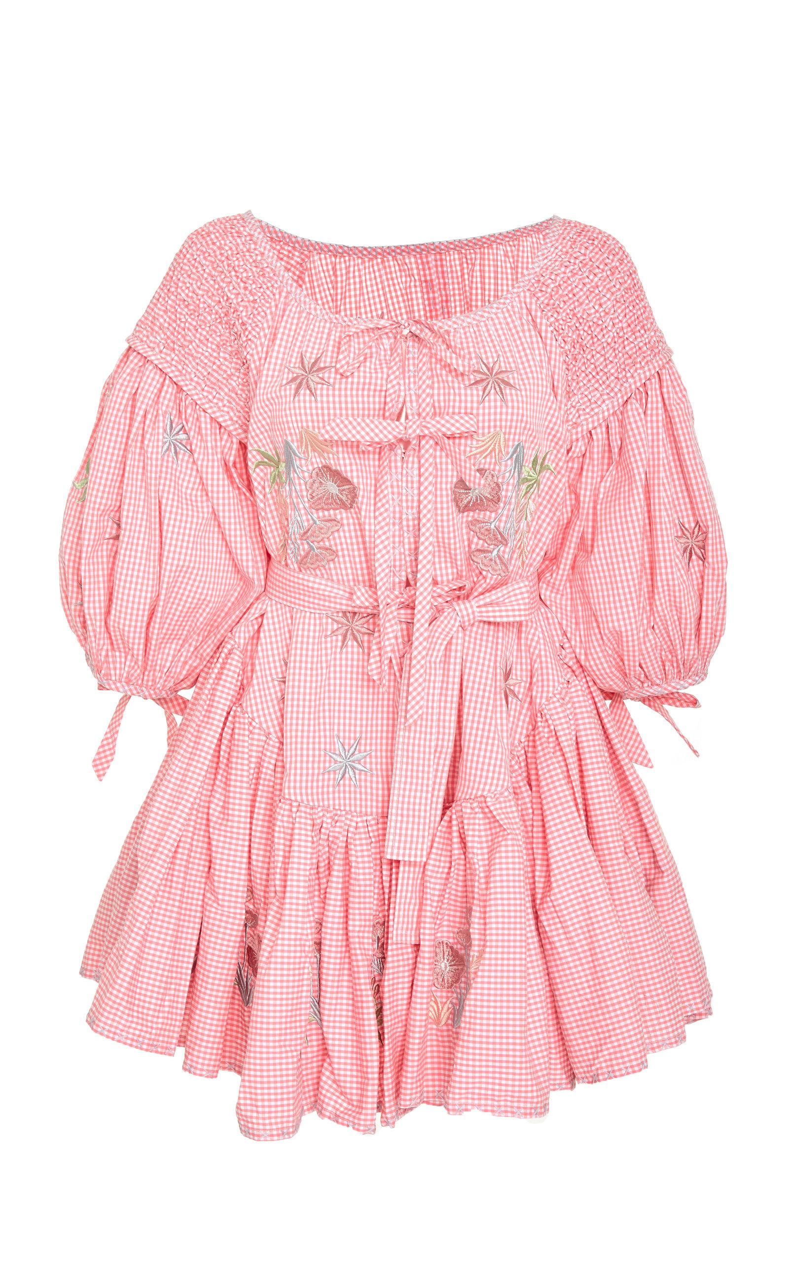 FRILL MINI SMOCKED DRESS