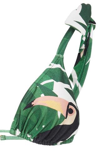 1d1bd74b99 Geometric Foliage Vintage Bikini With Ties by Adriana Degreas | Moda  Operandi