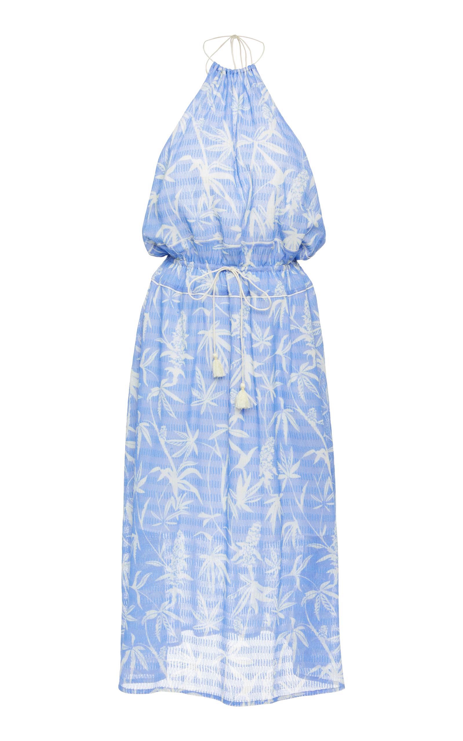 A PEACE TREATY Boetica Halter Dress, Blue