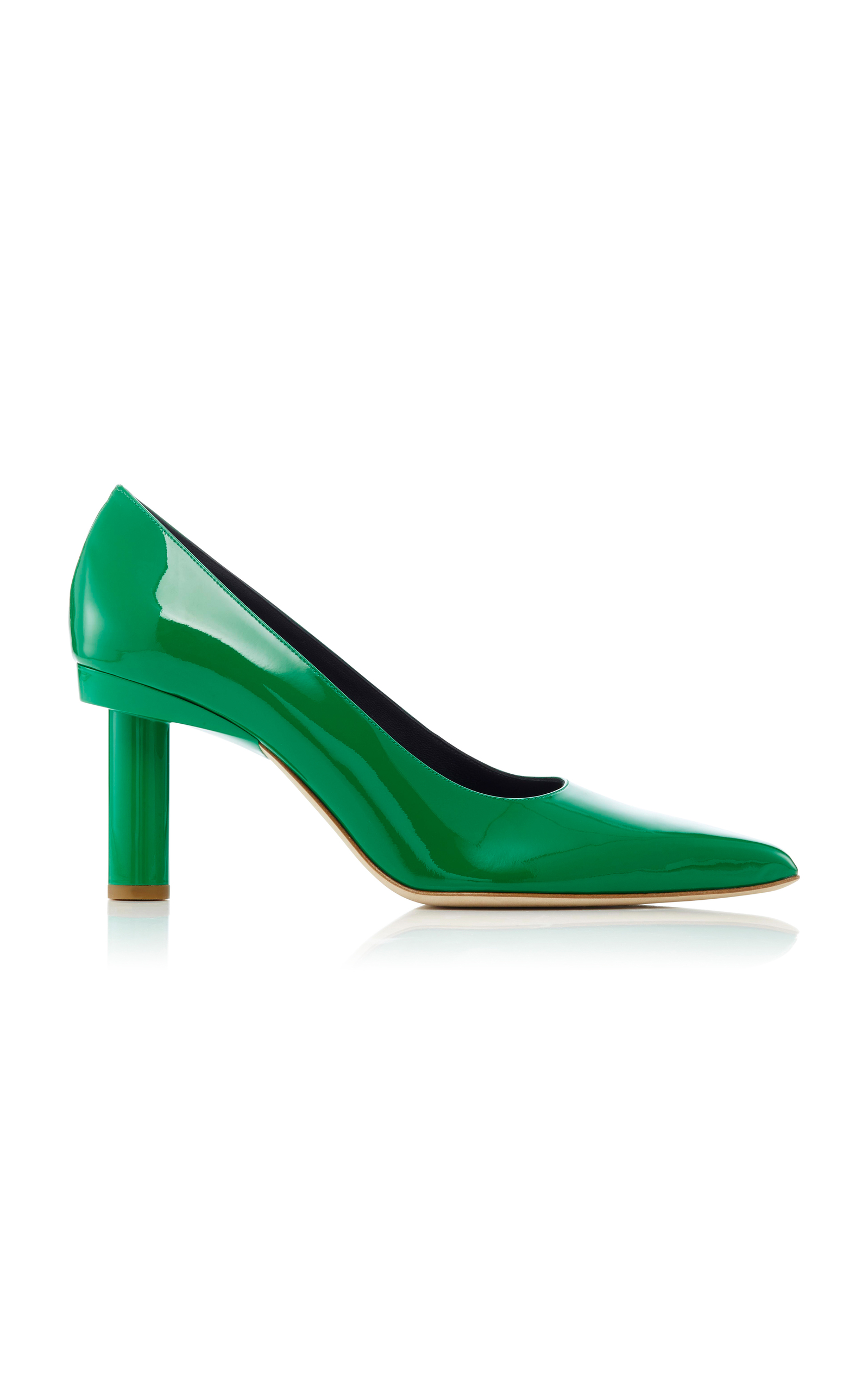 Tibi  ZO GLOSSED LEATHER PUMPS
