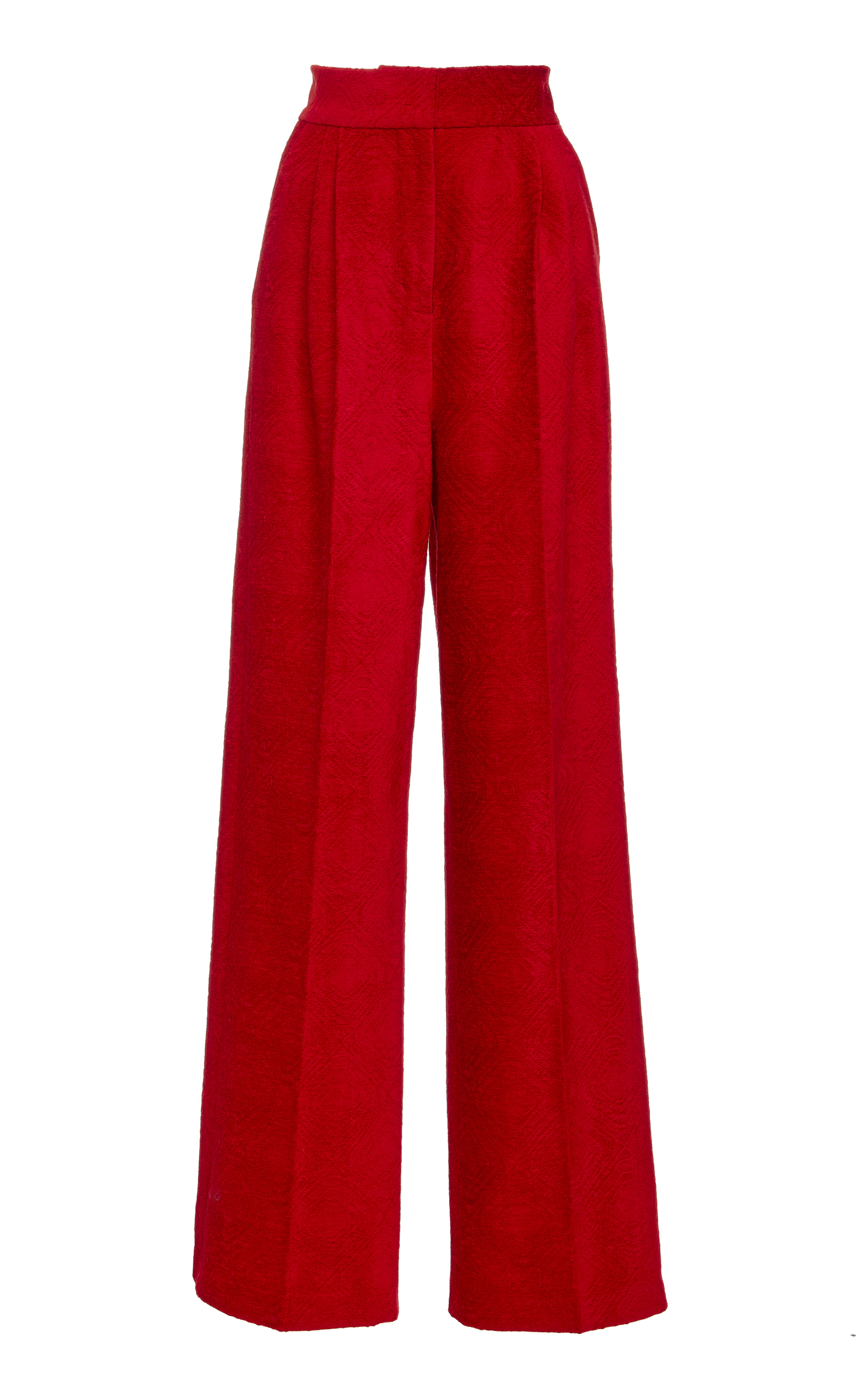 ALENA AKHMADULLINA High Waisted Trousers in Red