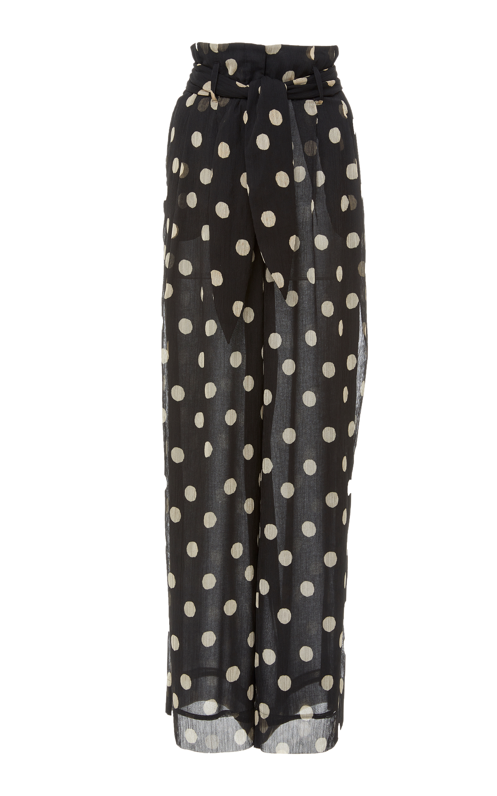 Nevada Striped High-Rise Cotton-Blend Trousers, Print