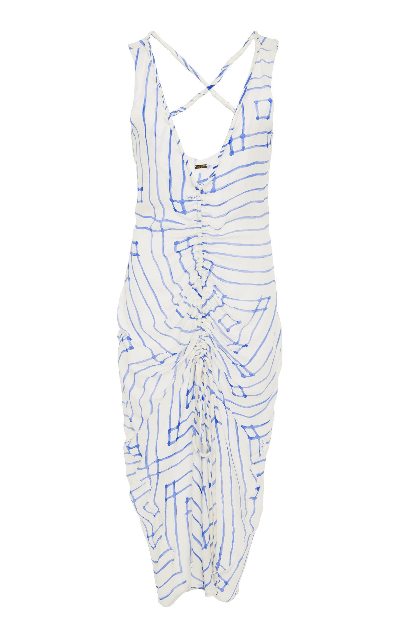 Yara Ruched Silk Slip Dress Cult Gaia gH4xMP9ET