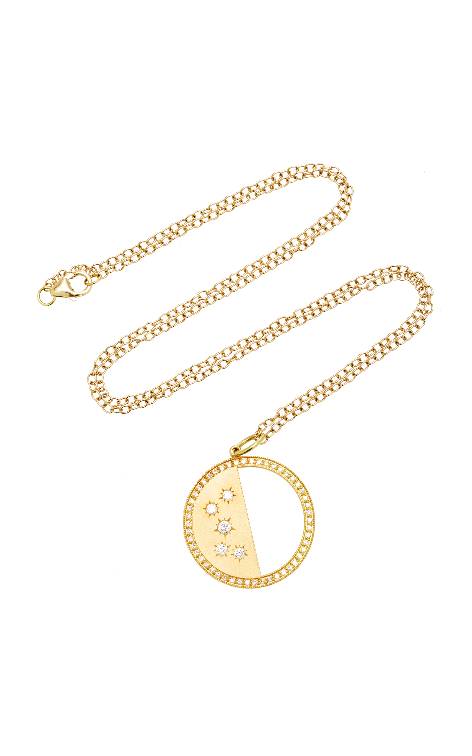 harper indie half pendant gold and moon necklace me breakpoint