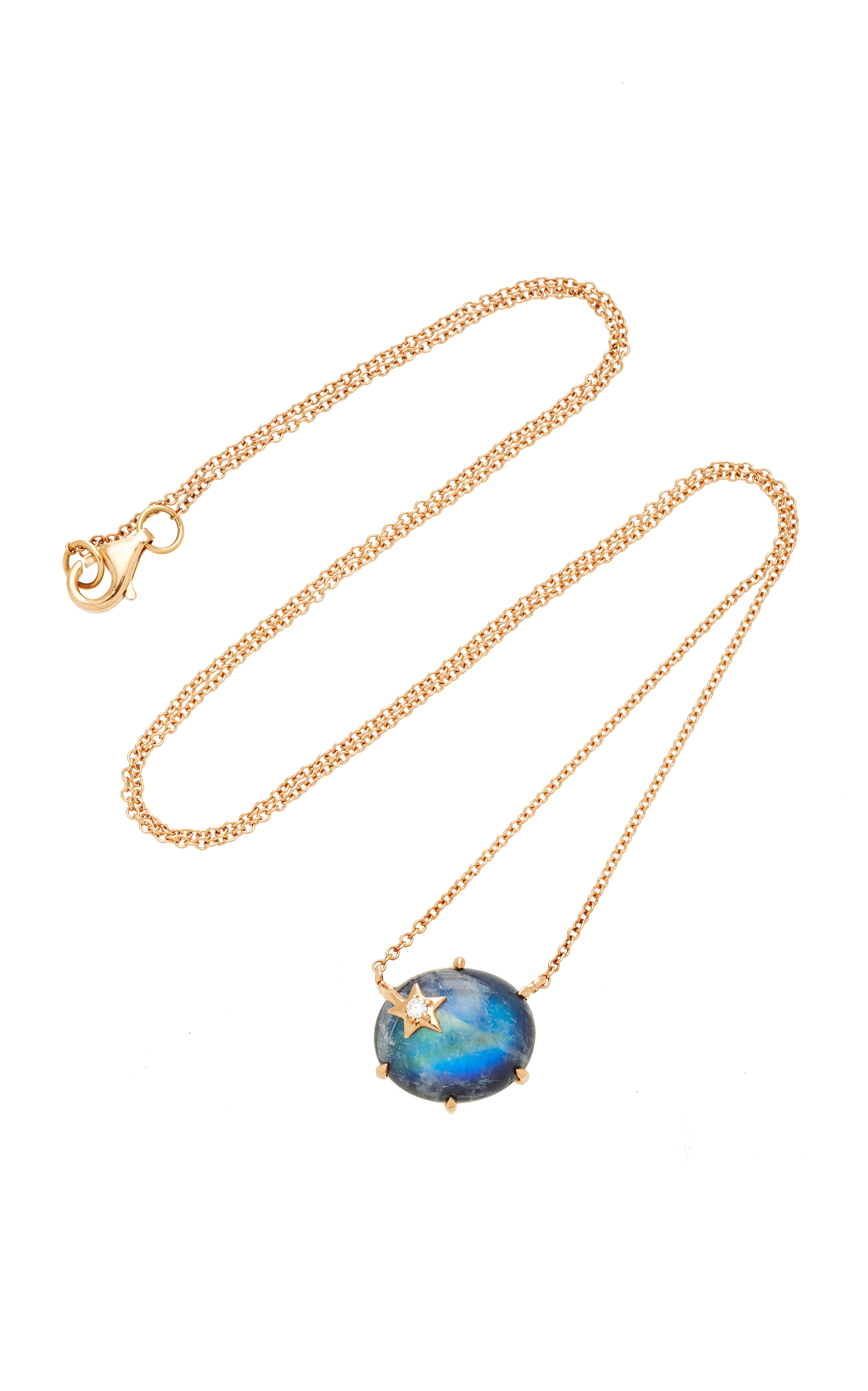 Andrea Fohrman Mini Galaxy 18-karat Rose Gold Multi-stone Necklace CDO2CxqyD