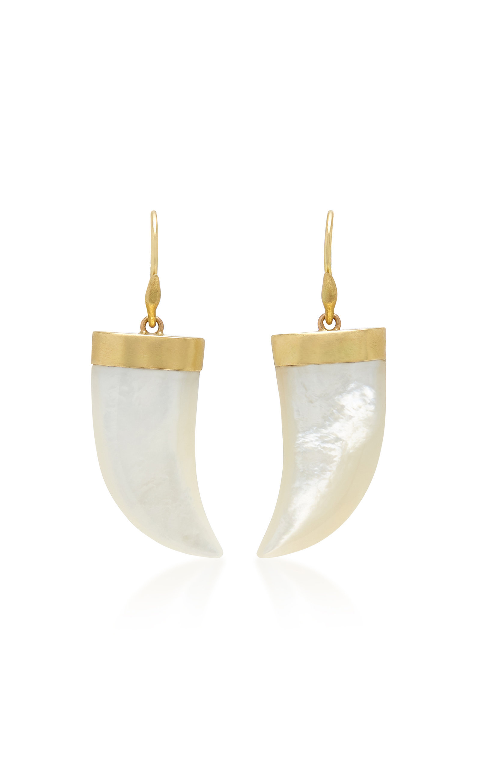 Annette Ferdinandsen Jewelry EXCLUSIVE TIGER CLAW MOTHER OF PEARL EARRING