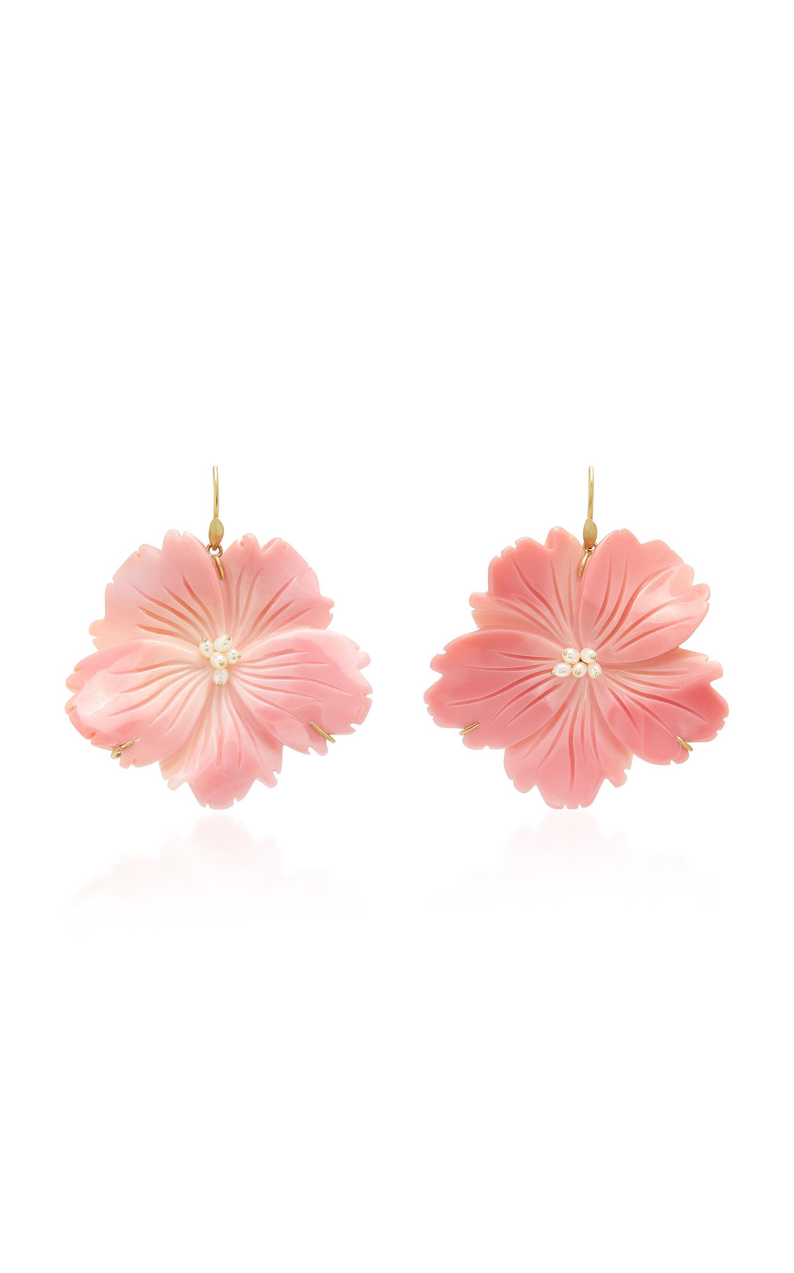Annette Ferdinandsen Jewelry EXCLUSIVE: WILD ROSE PINK CONCH SHELL EARRING