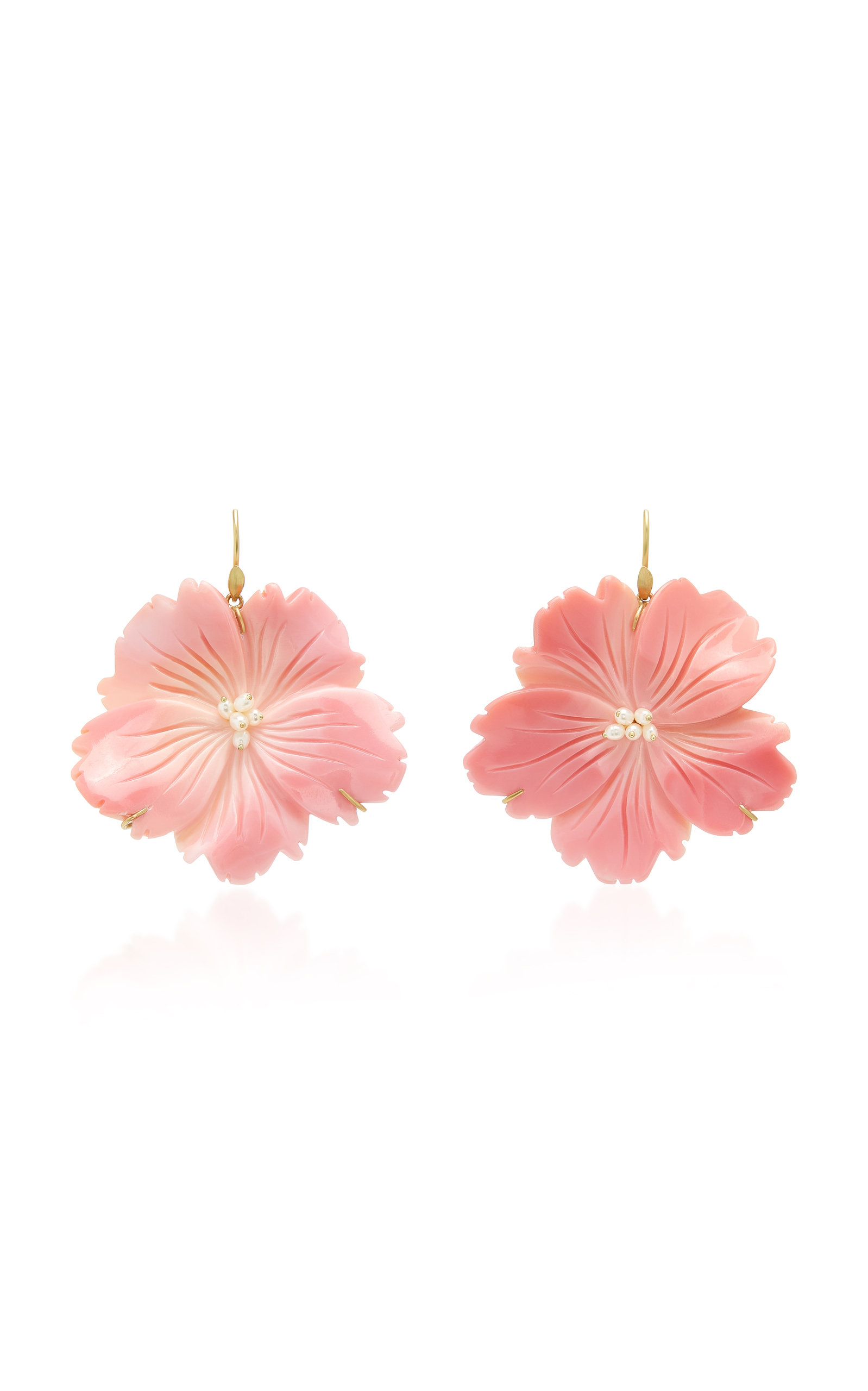 ANNETTE FERDINANDSEN M'O Exclusive: Wild Rose Pink Conch Shell Earring