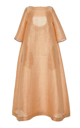 CHADOR   Chador Cutout-Back Linen-Blend Maxi Dress   Goxip