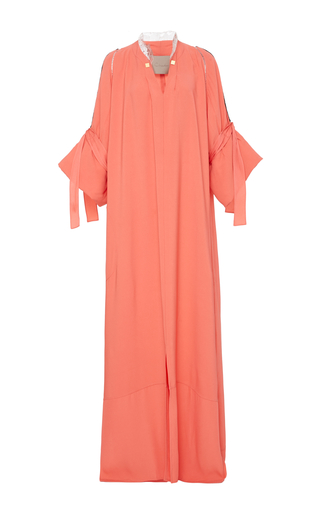 CHADOR   Chador Lace-Trimmed Crepe Maxi Dress   Goxip