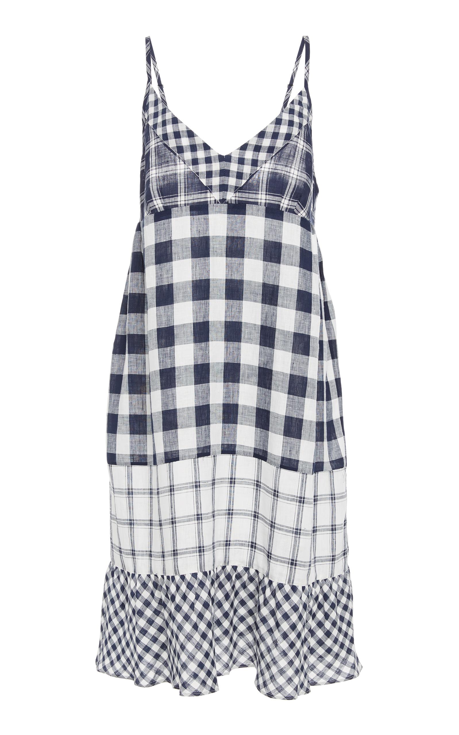 Nellie gingham linen dress Lee Mathews GYbCT