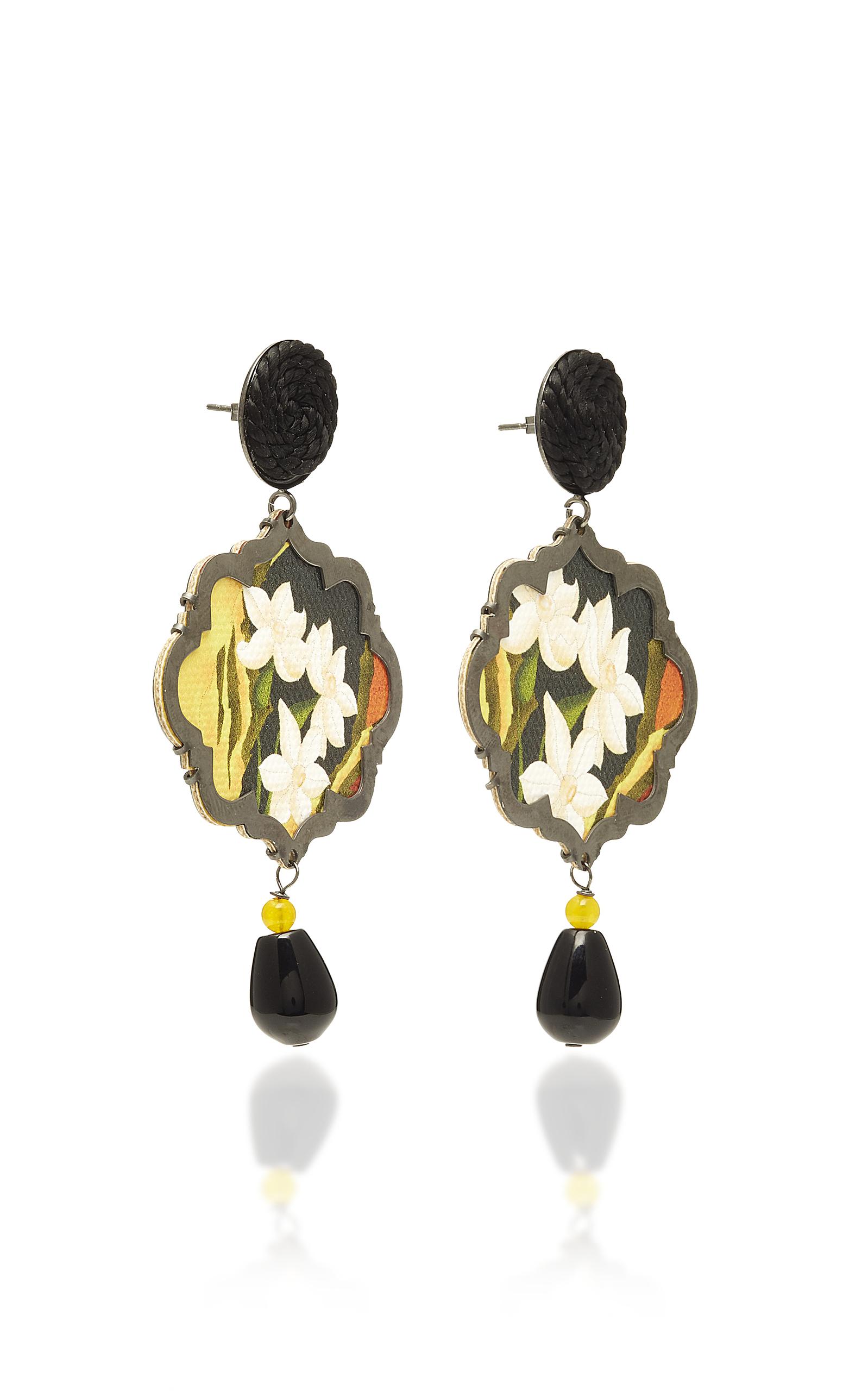 Marco Polo Lotus Flower Earrings By Anna E Alex Moda Operandi