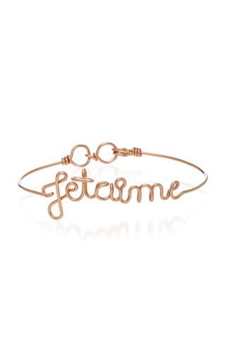 ATELIER PAULIN   Atelier Paulin Je T'aime 14K Rose Gold Bracelet   Goxip