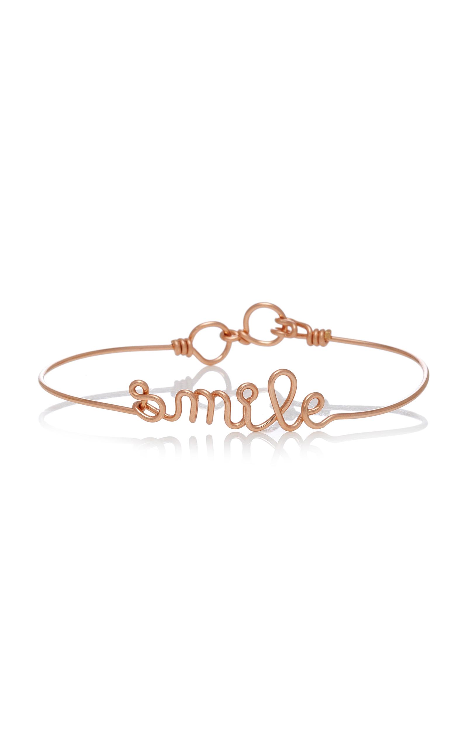 SMILE 14K ROSE-GOLD BRACELET