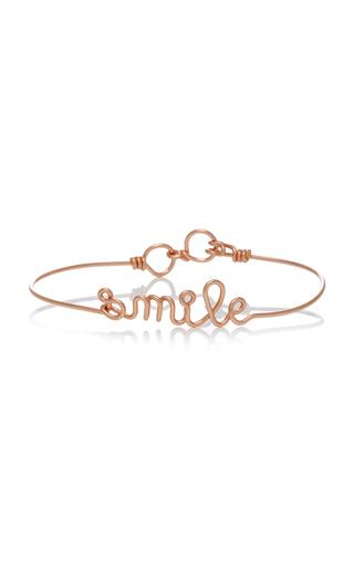 ATELIER PAULIN   Atelier Paulin Smile 14K Rose-Gold Bracelet   Goxip