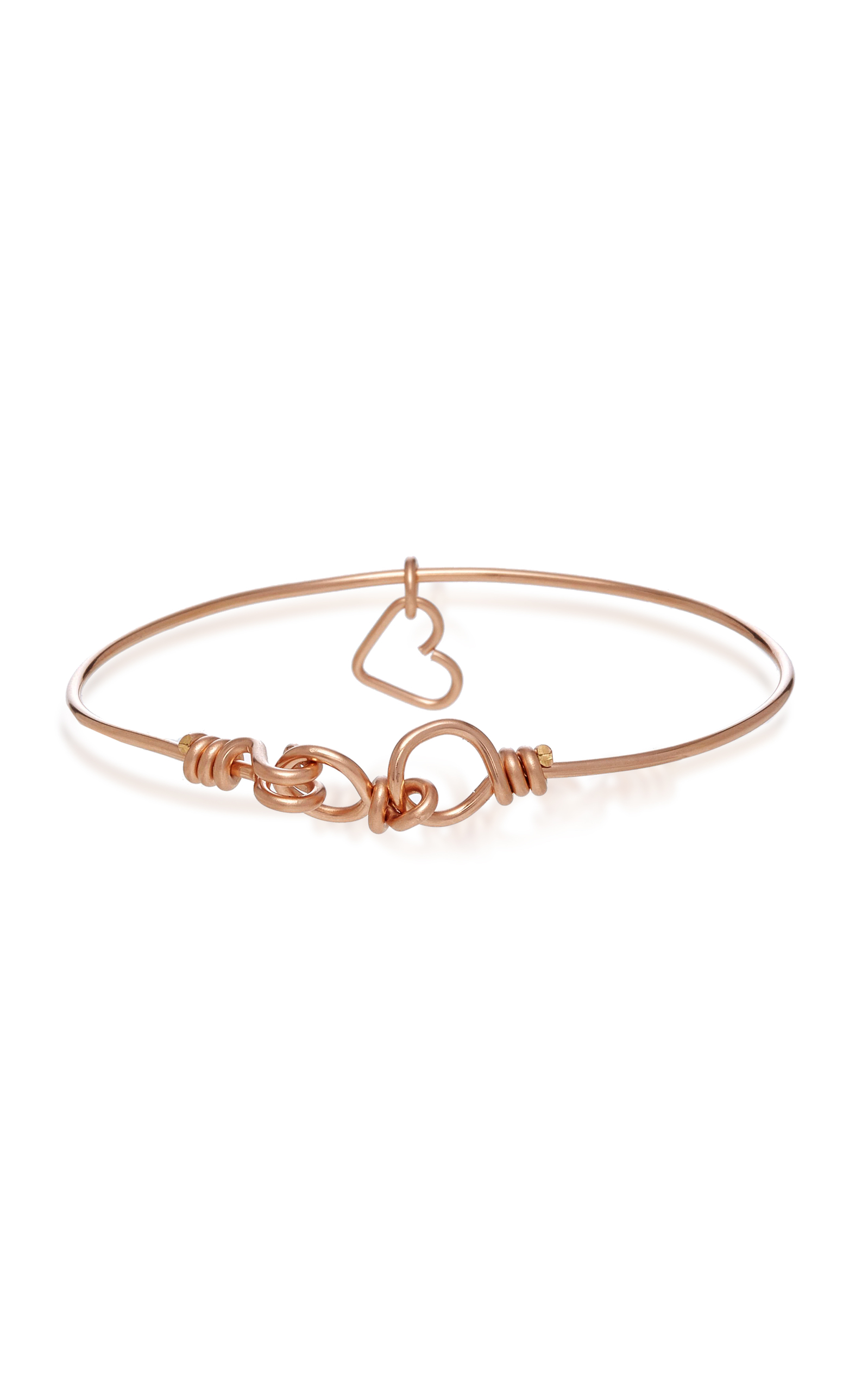Nude 14K Rose Gold Heart Charm Bracelet Atelier Paulin 6Q1qeh