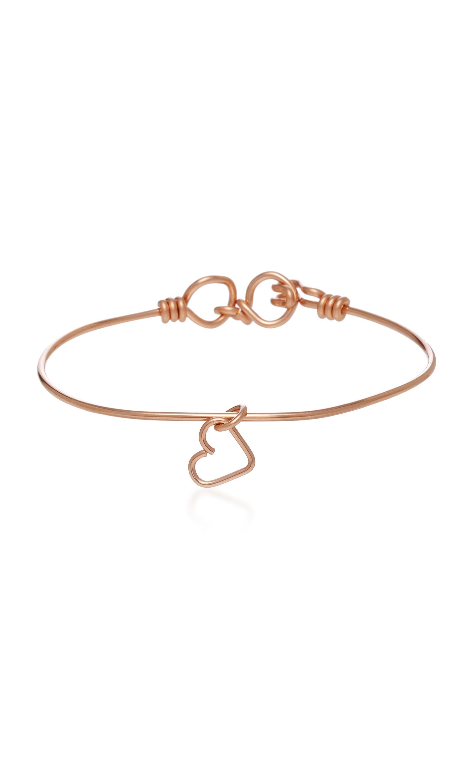 Atelier Paulin Nude 14K Rose Gold Heart Charm Bracelet HWP2g7