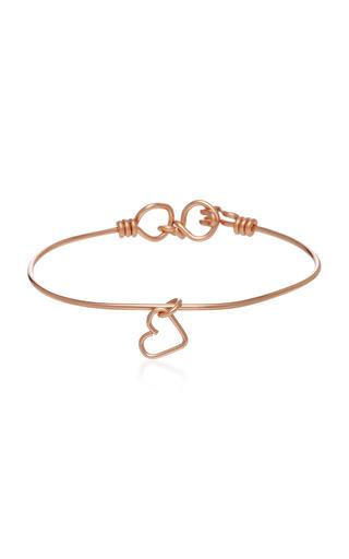 ATELIER PAULIN   Atelier Paulin Nude 14K Rose Gold Heart Charm Bracelet   Goxip
