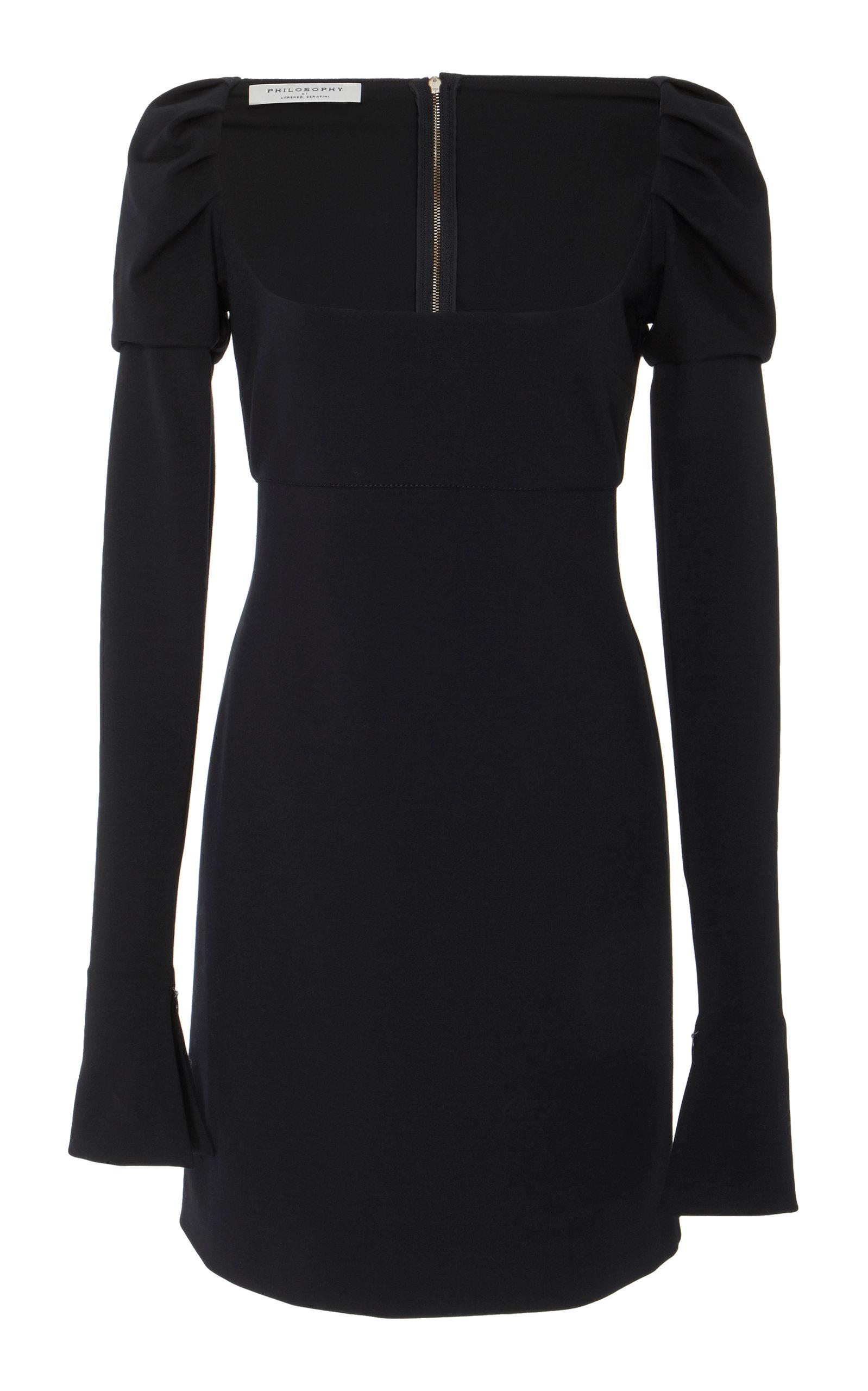 Square Neckline Dress in Black