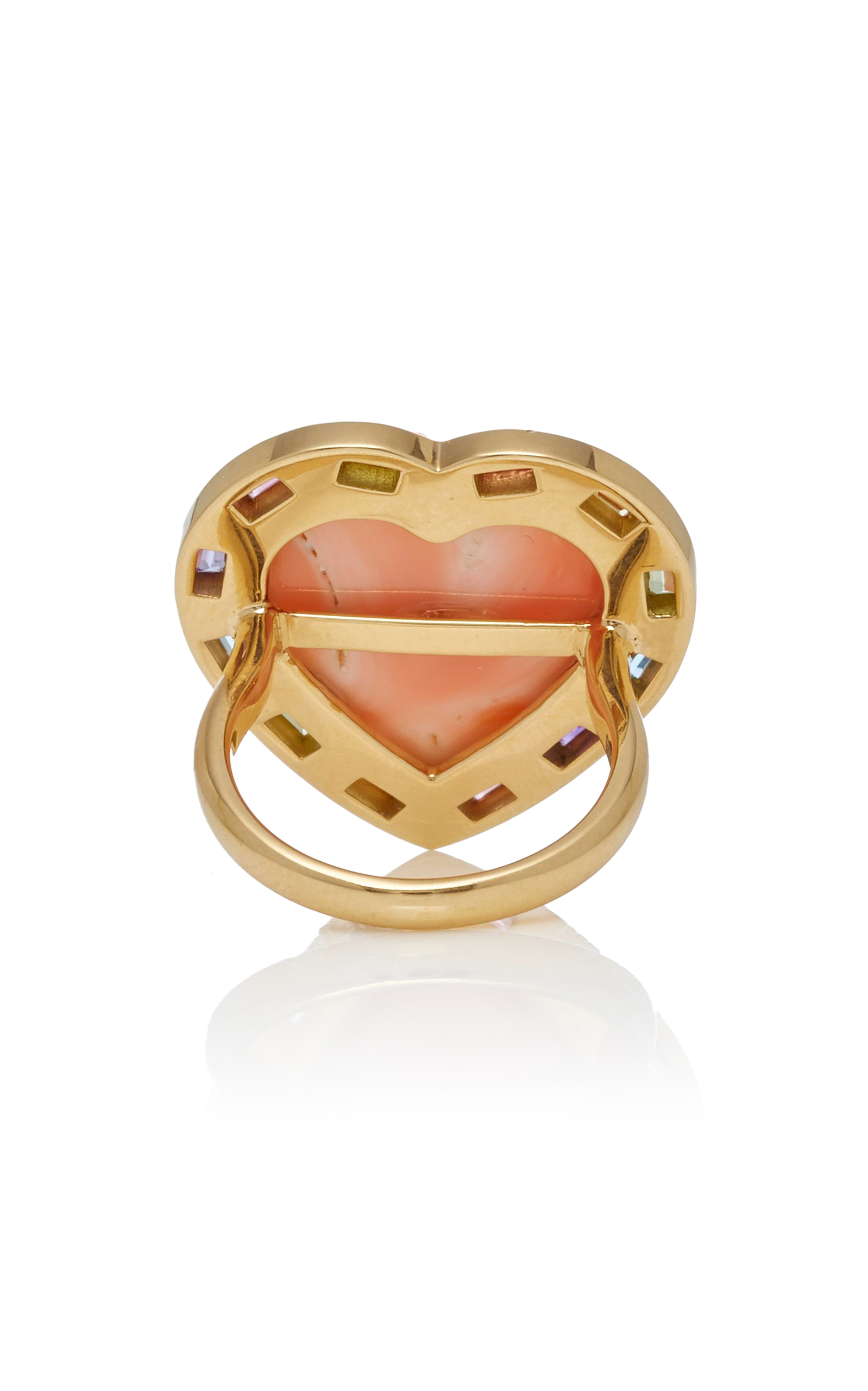 dovil dovile sq silicone ring b statement gold shop rose coral rings