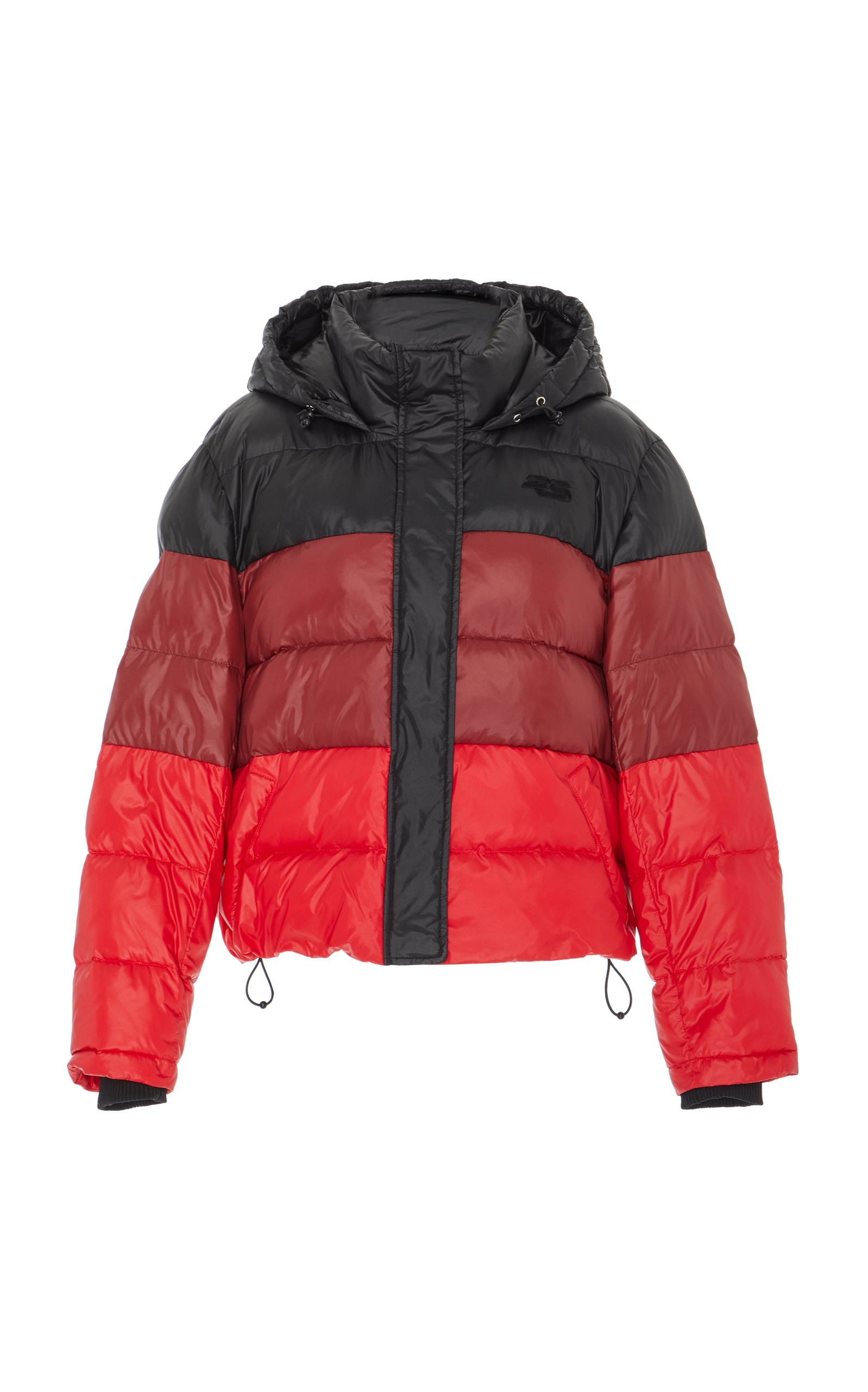 Color-Blocked Quilted-Shell Puffer Jacket, Multi