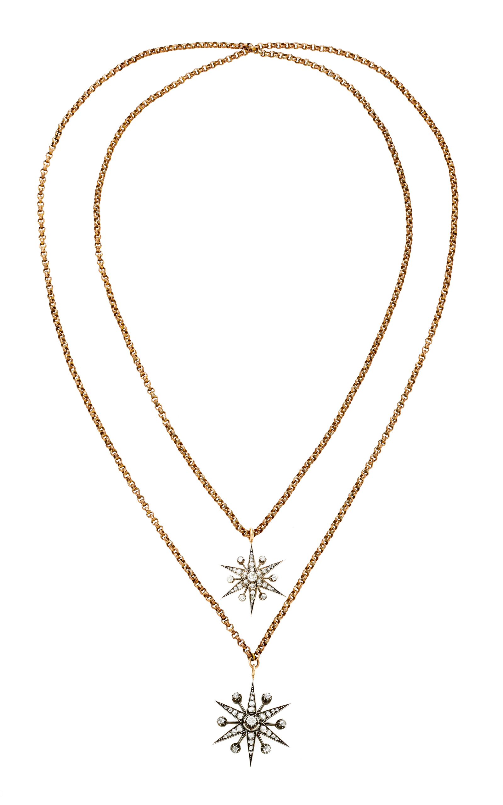 TONI + CHLOE GOUTAL Ava One-Of-A-Kind Antique Gold And Diamond Double Necklace