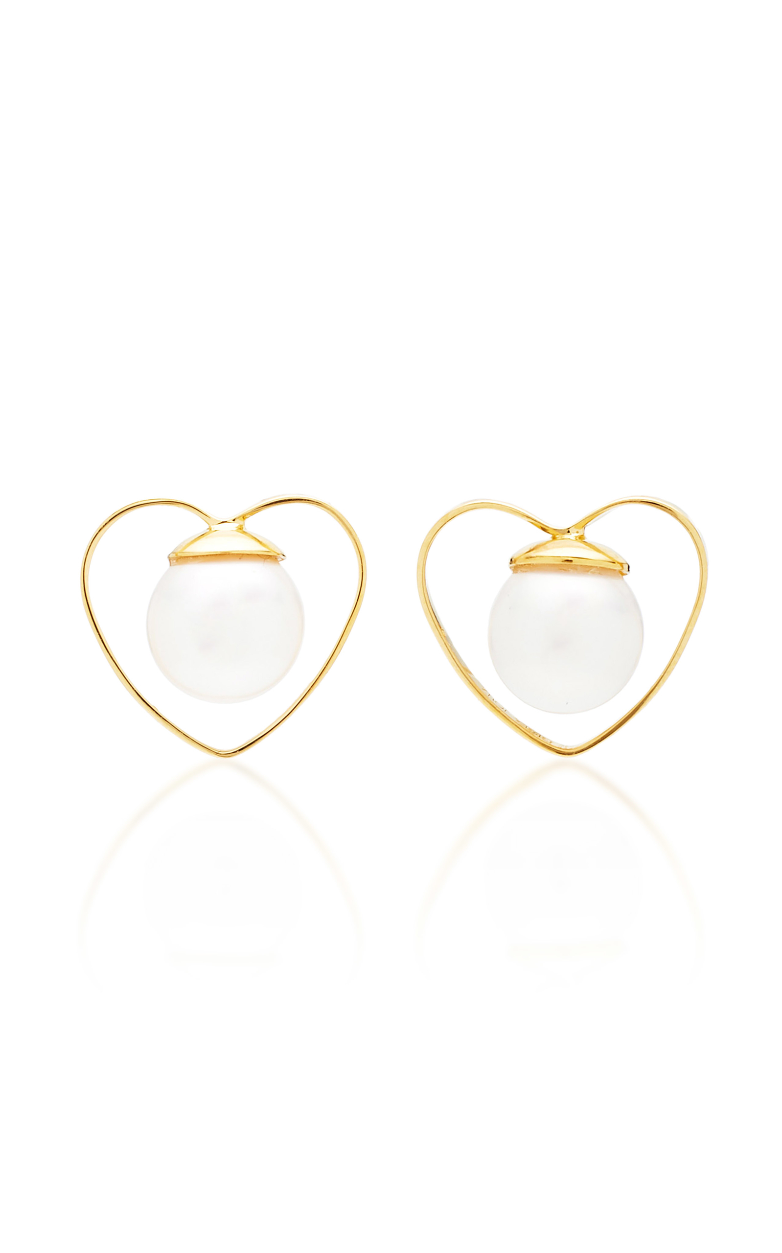 GIGI & JOUX HEART PEARL EARRINGS