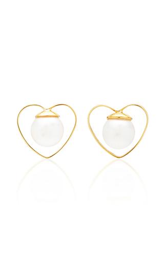 GIGI & JOUX | Gigi & Joux Heart Pearl Earrings | Goxip