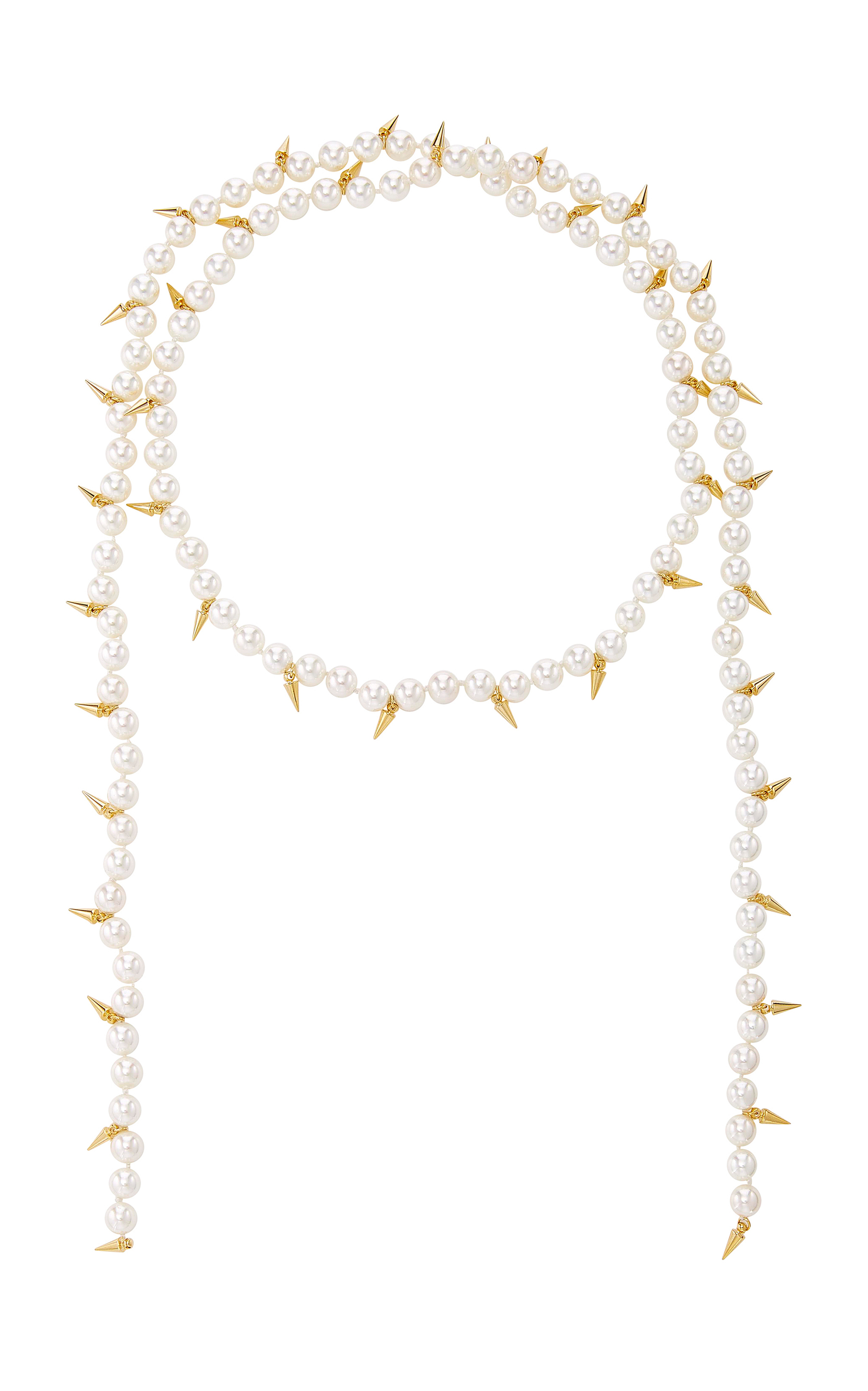 Fallon Linda Spike Lariat Necklace U9W0uMdx