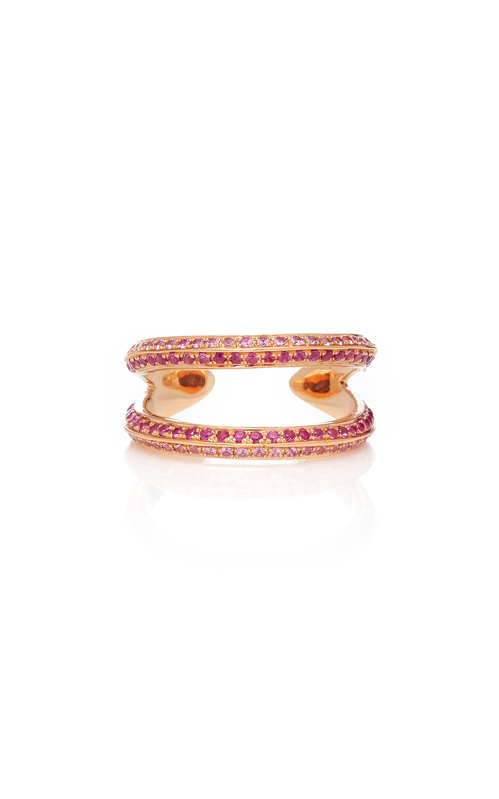 RALPH MASRI Double Sapphire Ring in Pink