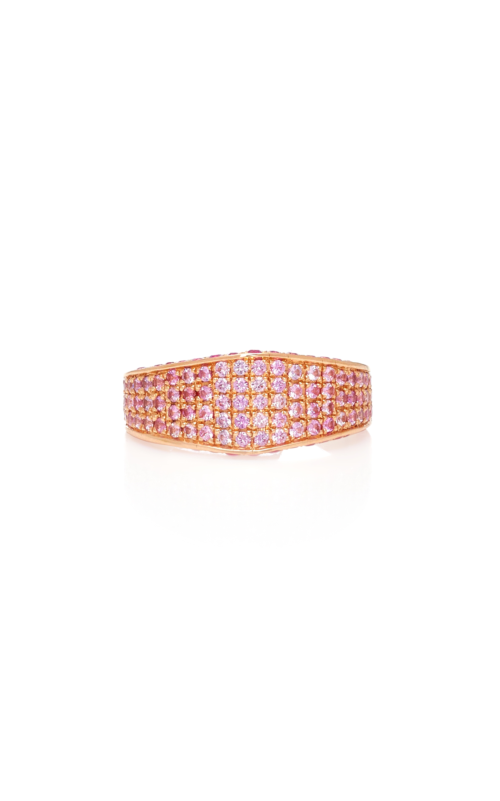 RALPH MASRI Sapphire Band Ring in Pink