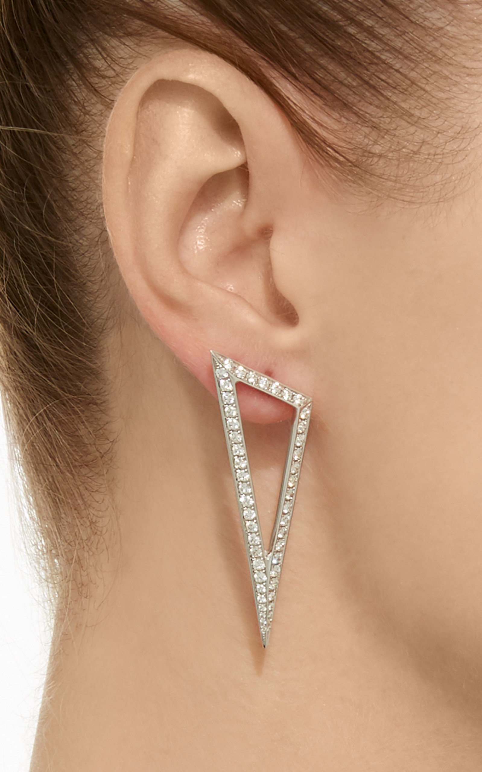 5a997f257 Daimond Triangle Earrings by Ralph Masri | Moda Operandi