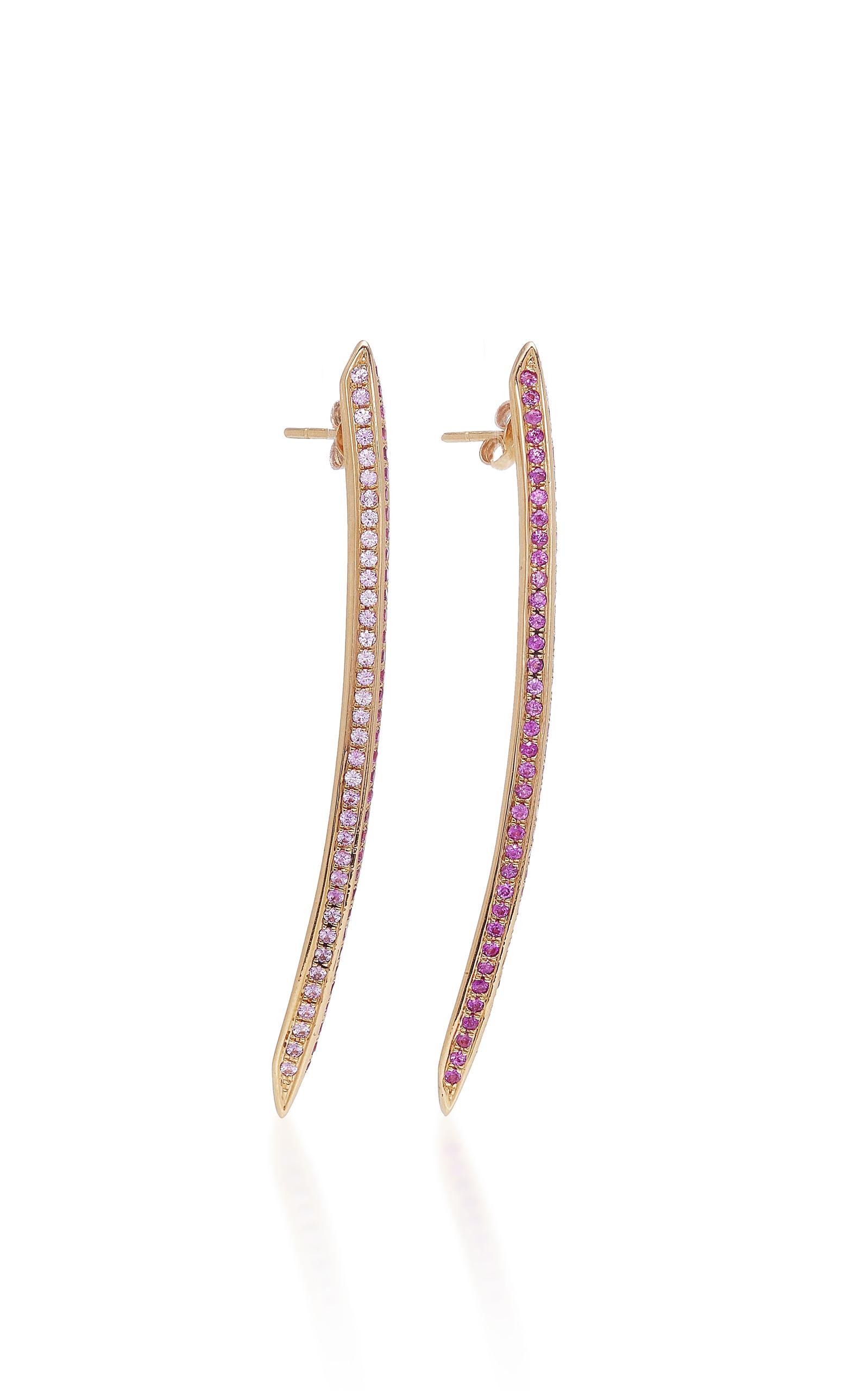 RALPH MASRI SAPPHIRE SWORD EARRINGS