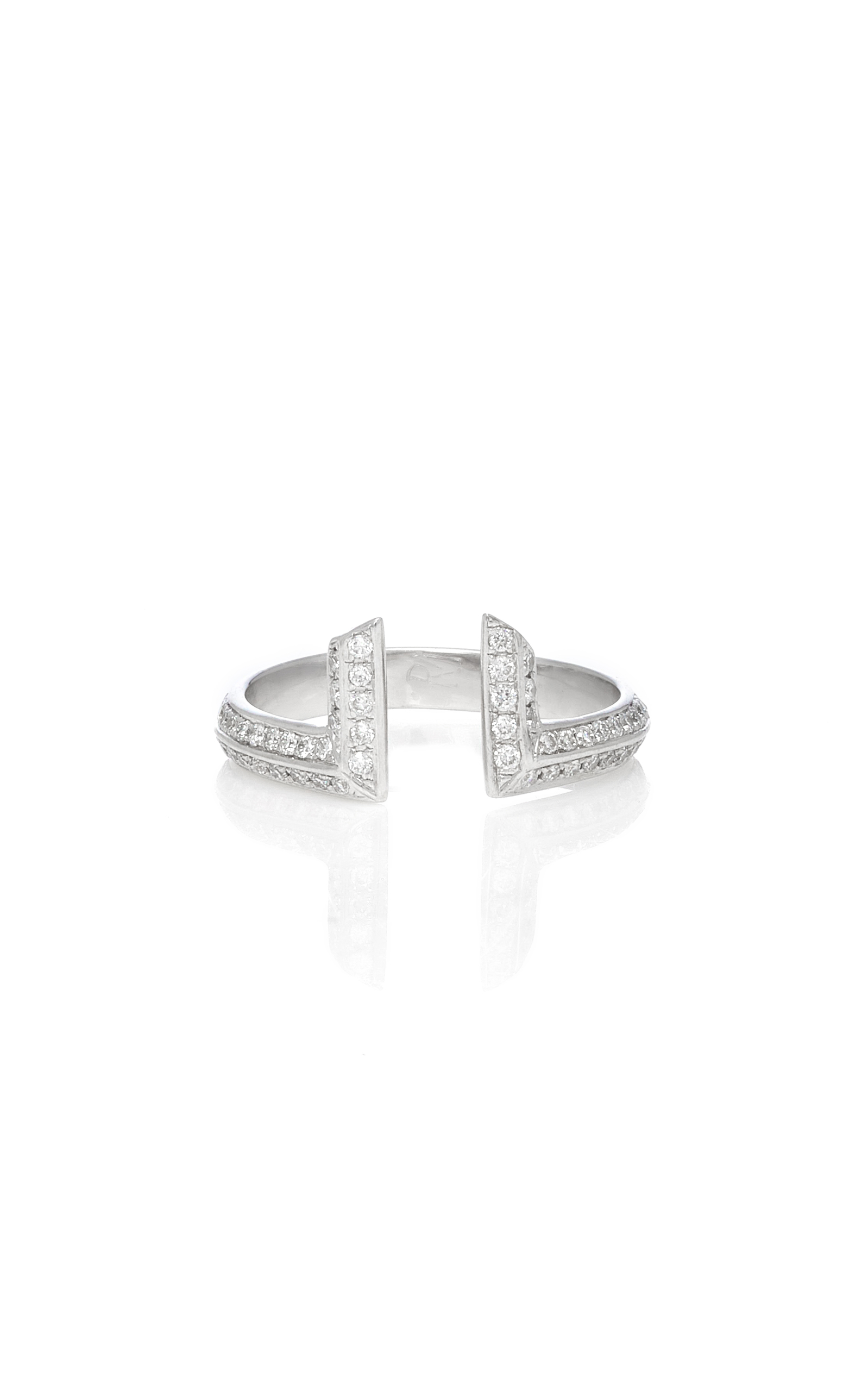 RALPH MASRI White Gold And Diamond Ring in Silver