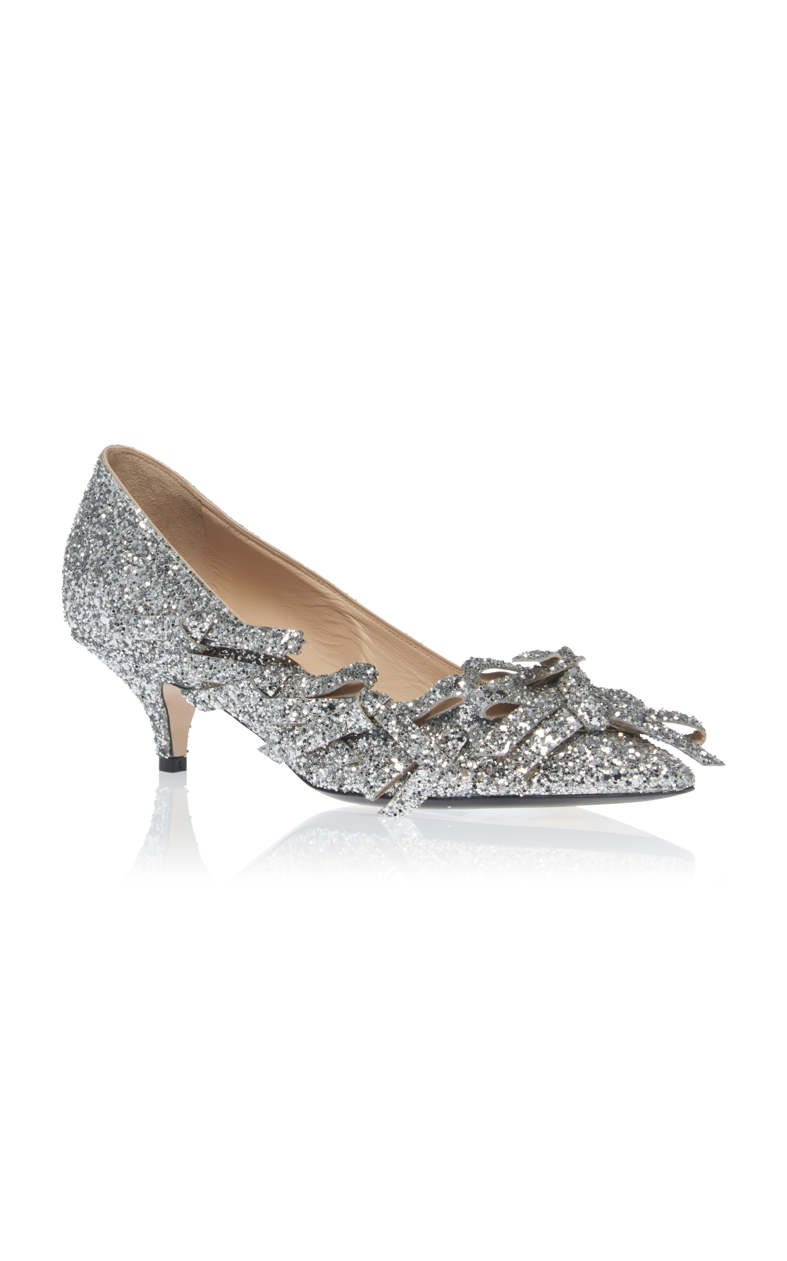 glitter bow detail pumps - Metallic N j9VJUuBMVY