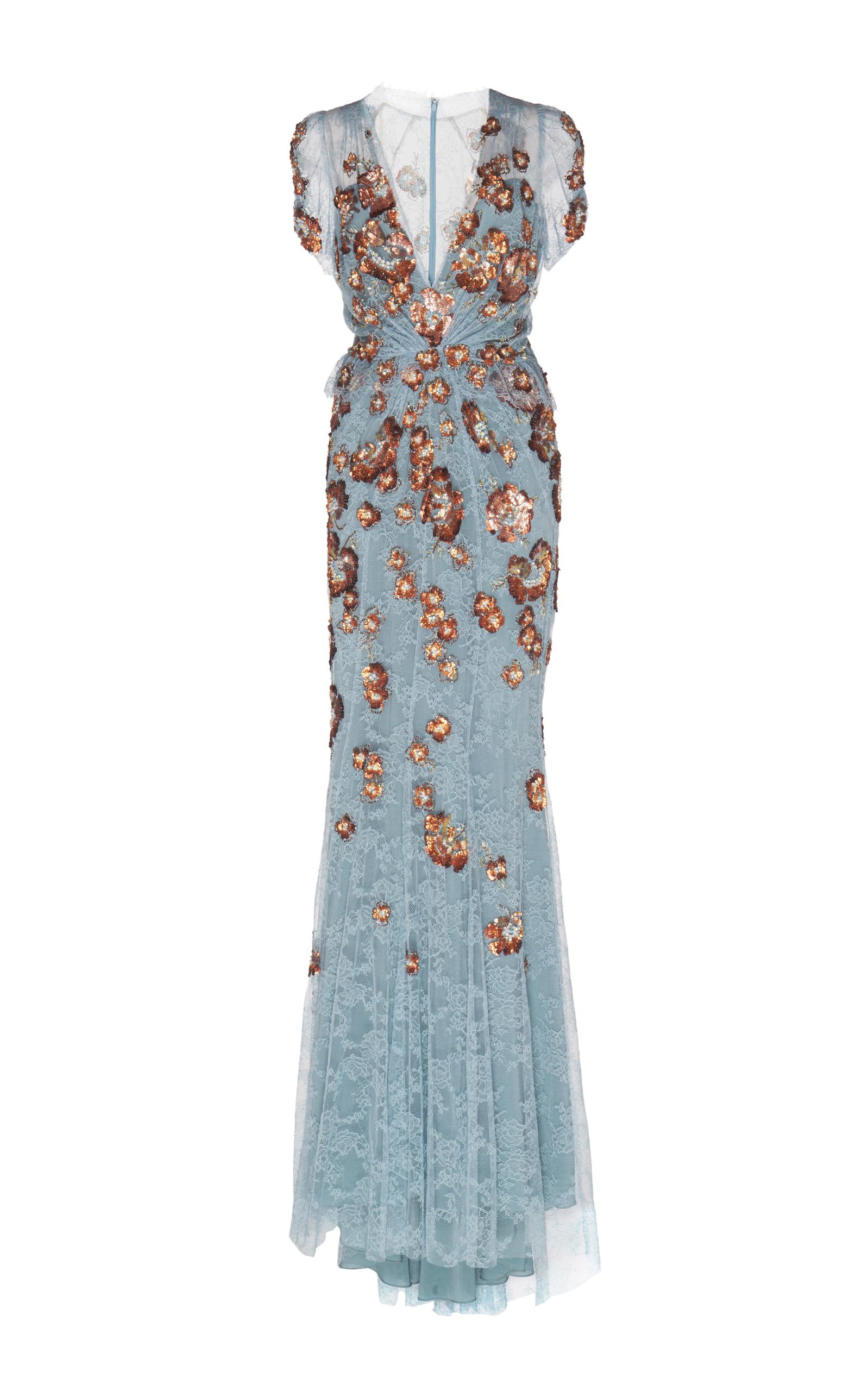 Ela Sequin Lace Gown by Jenny Packham | Moda Operandi
