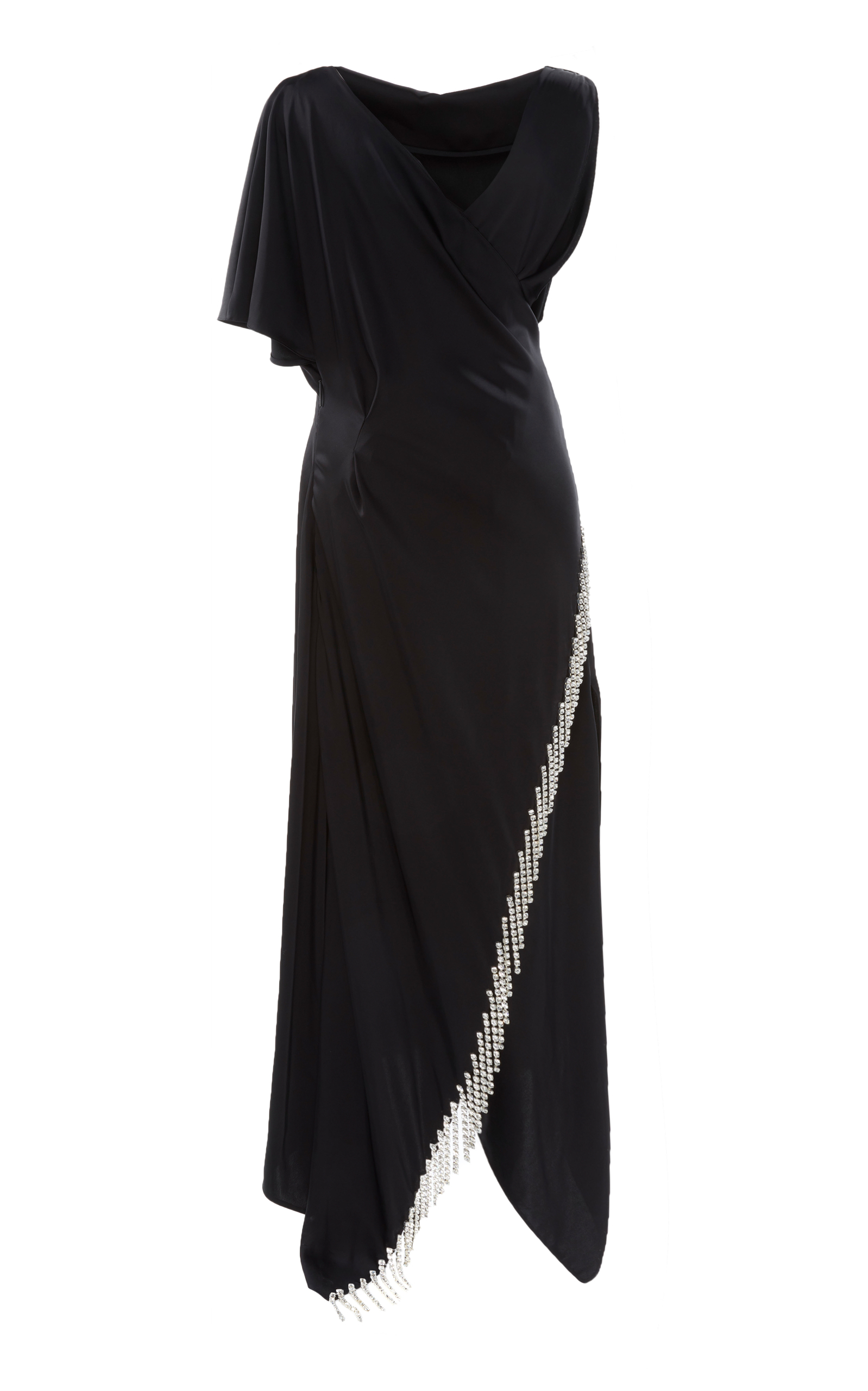 crystal satin dress - Black Christopher Kane q8W9Htun