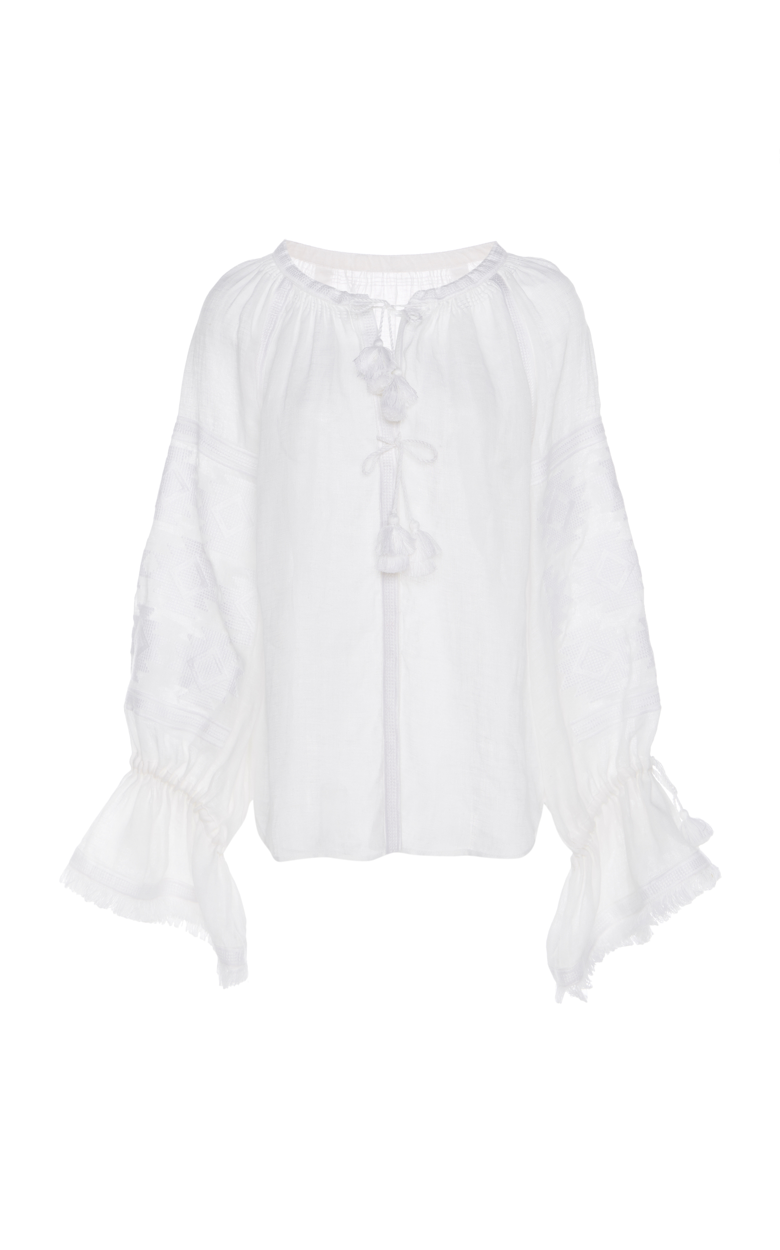 MARCH11 Geometry Blouse in White