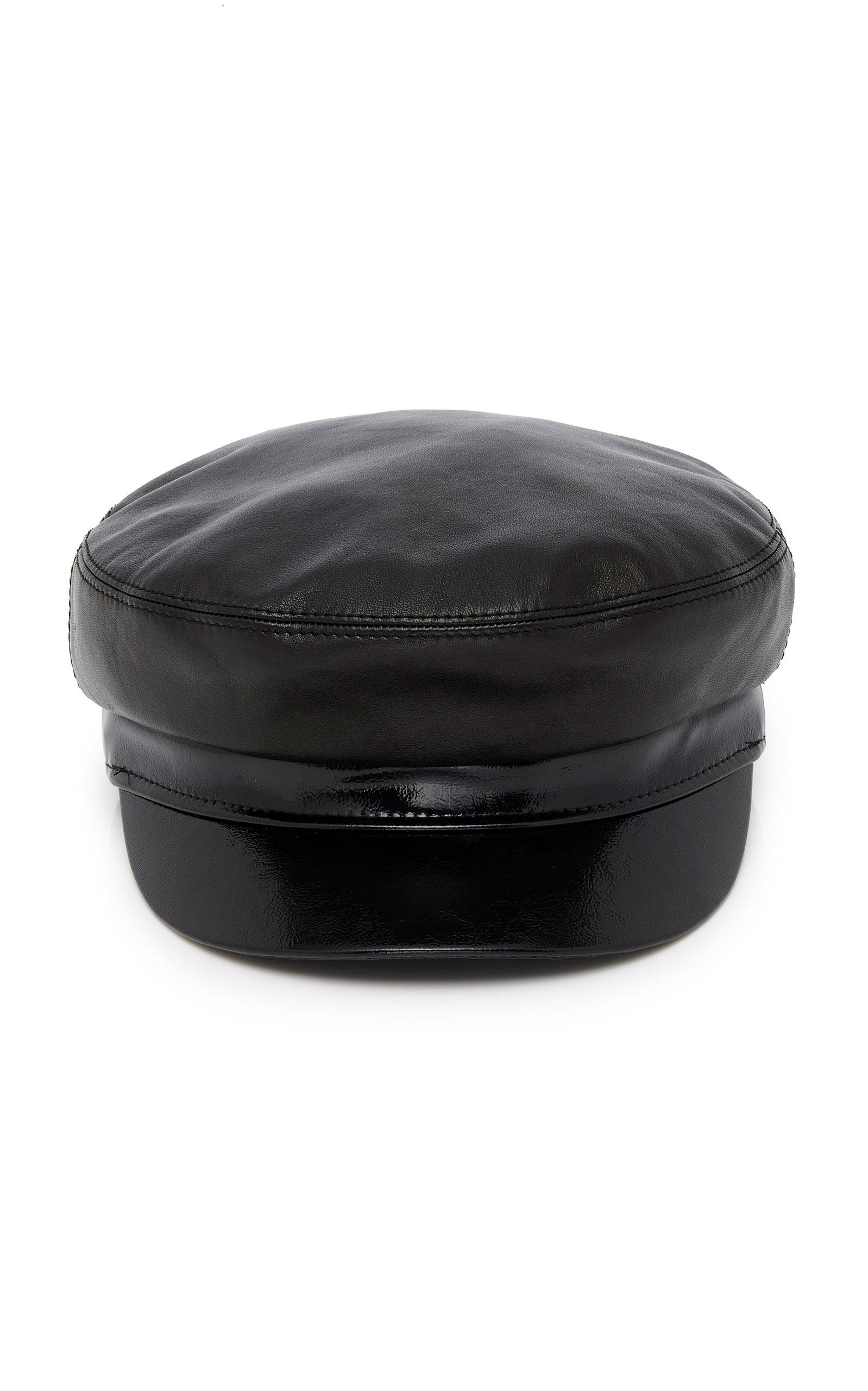 AVEC LA TROUPE M'O Exclusive Majorette Smooth And Patent-Leather Cap in Black