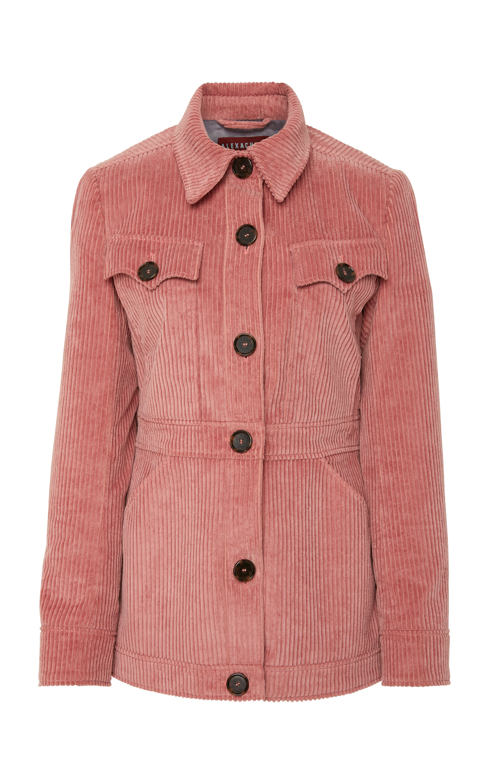 Alexachung - Patch Pocket Corduroy Jacket - Womens - Dark Pink