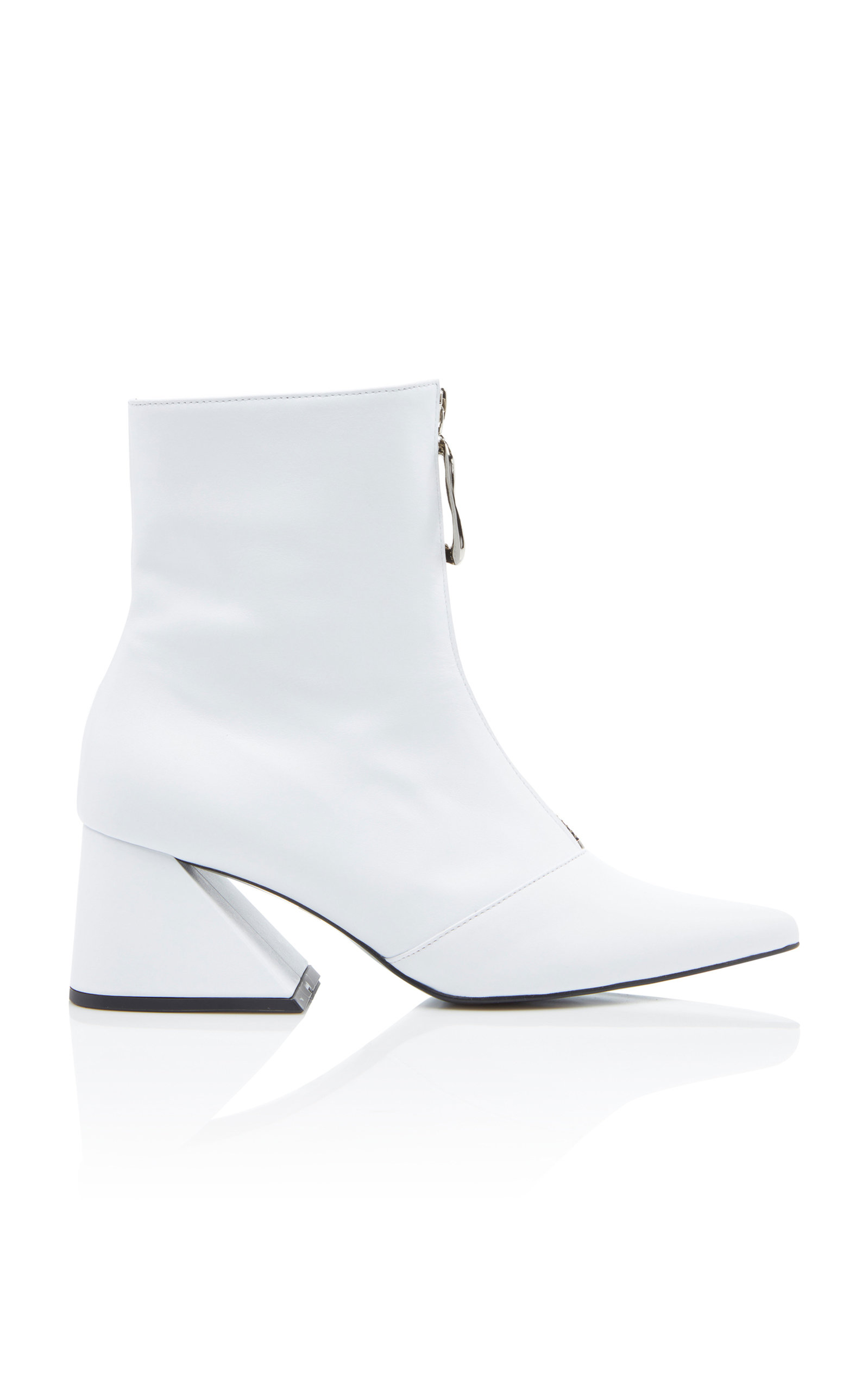 YUUL YIE Patent-Leather Ankle Boots in White