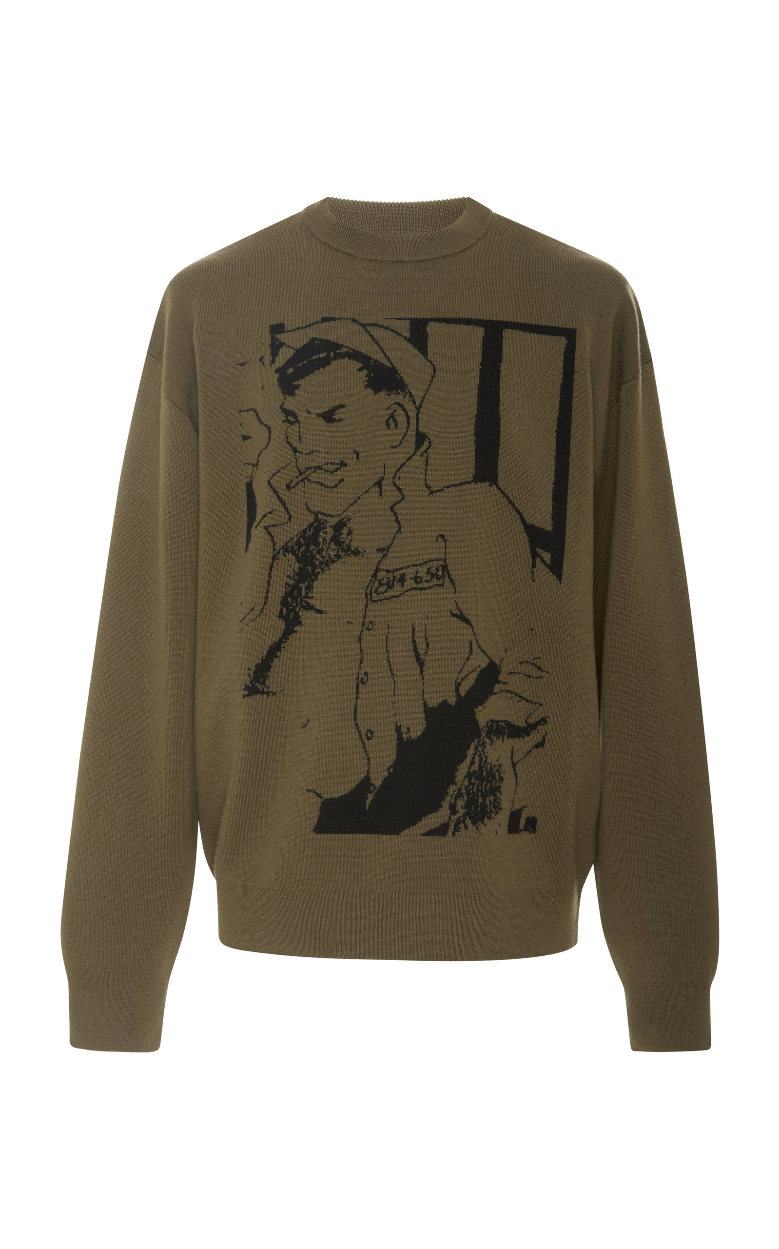 Crewneck Sailor In w Sweater Sketch Green Khaki Anderson anderson Jw J zxR0qSXwR