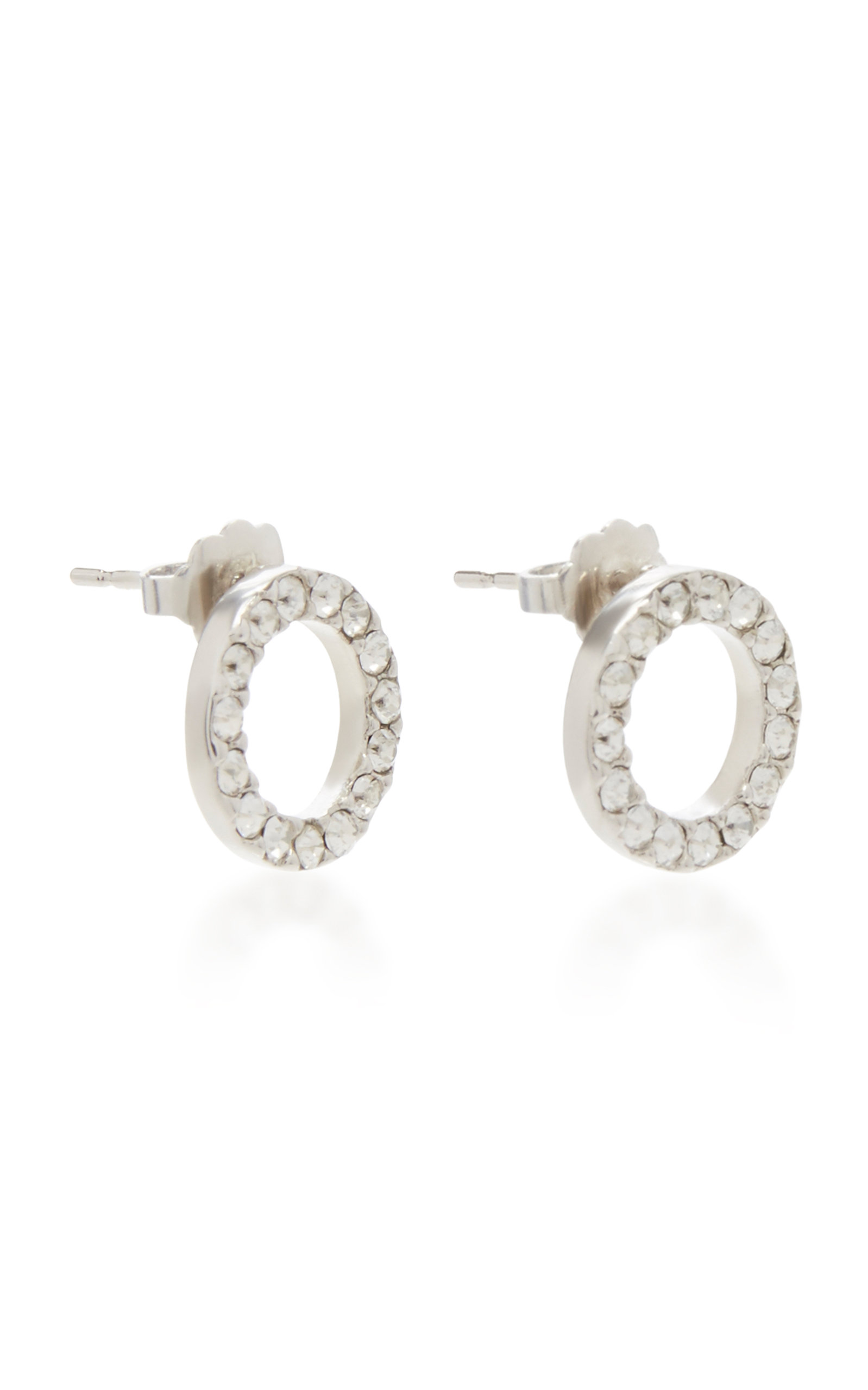 Silver-Plated Swarovski Crystal Earrings Isabel Marant WTN6x