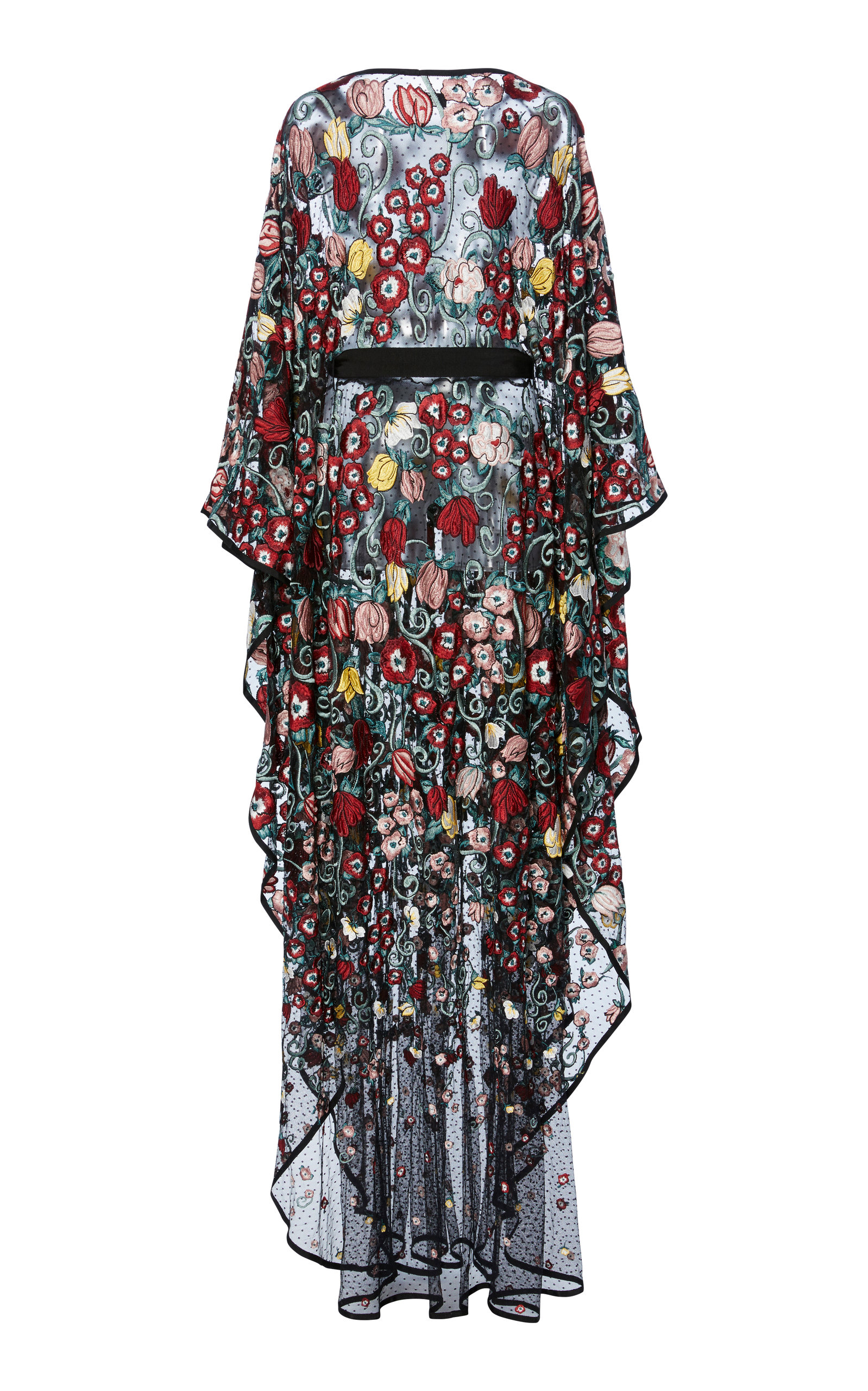 Floral-Embroidered Tulle Kaftan Zuhair Murad yEqCYxMd